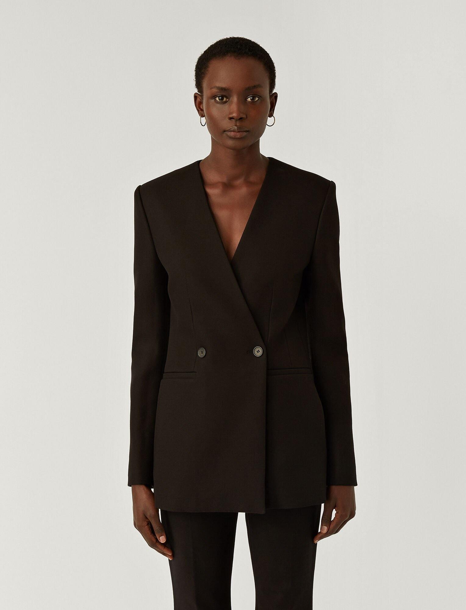 Jem Pure Cot Twill Blazer Black