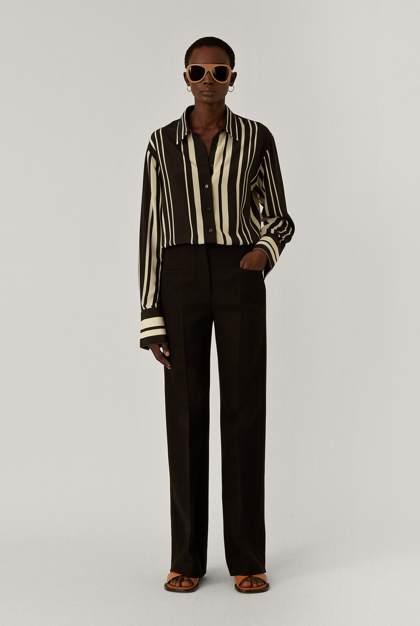 Toris Pure Cot Twill Trouser Black