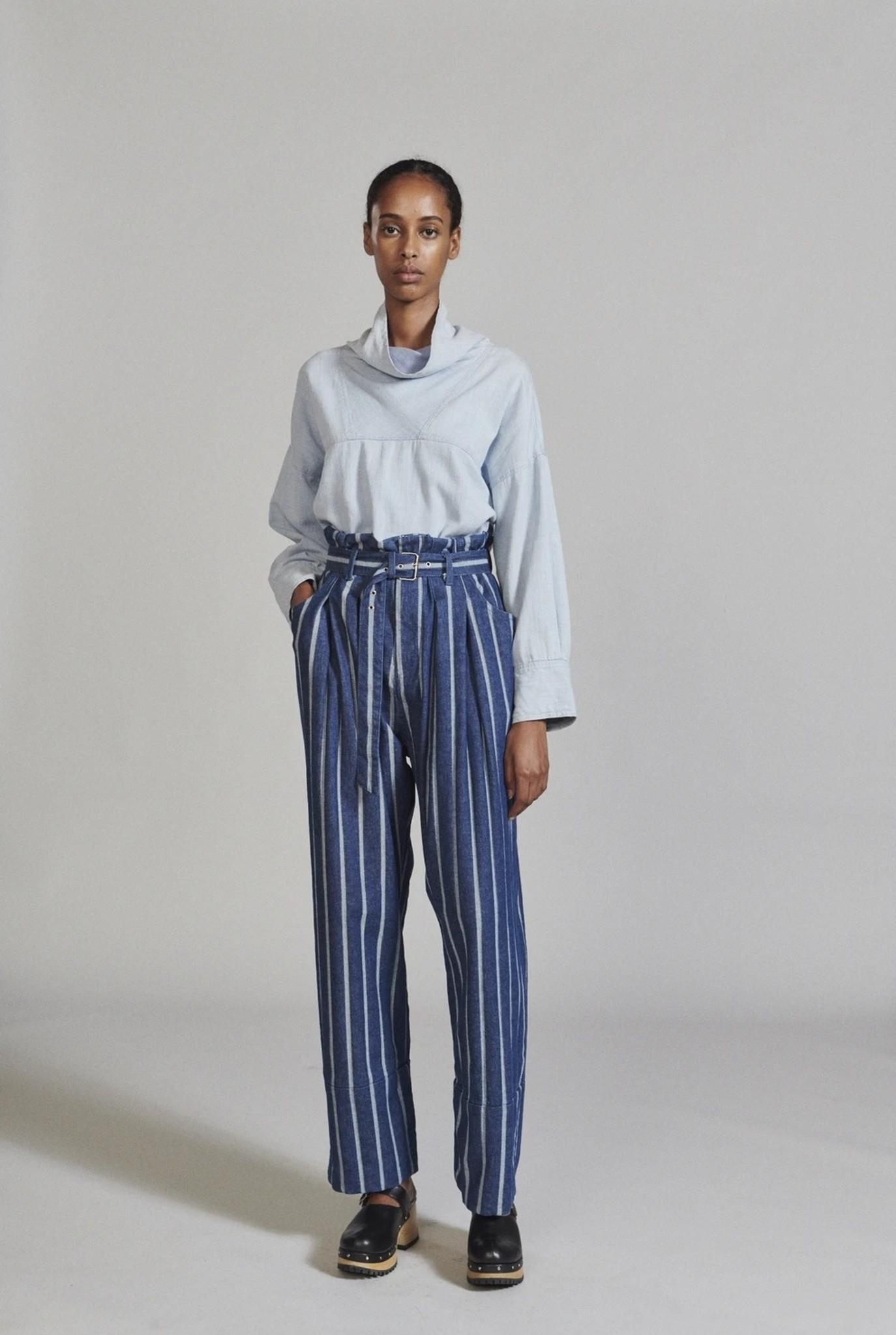Irolo Trouser Indigo Stripe