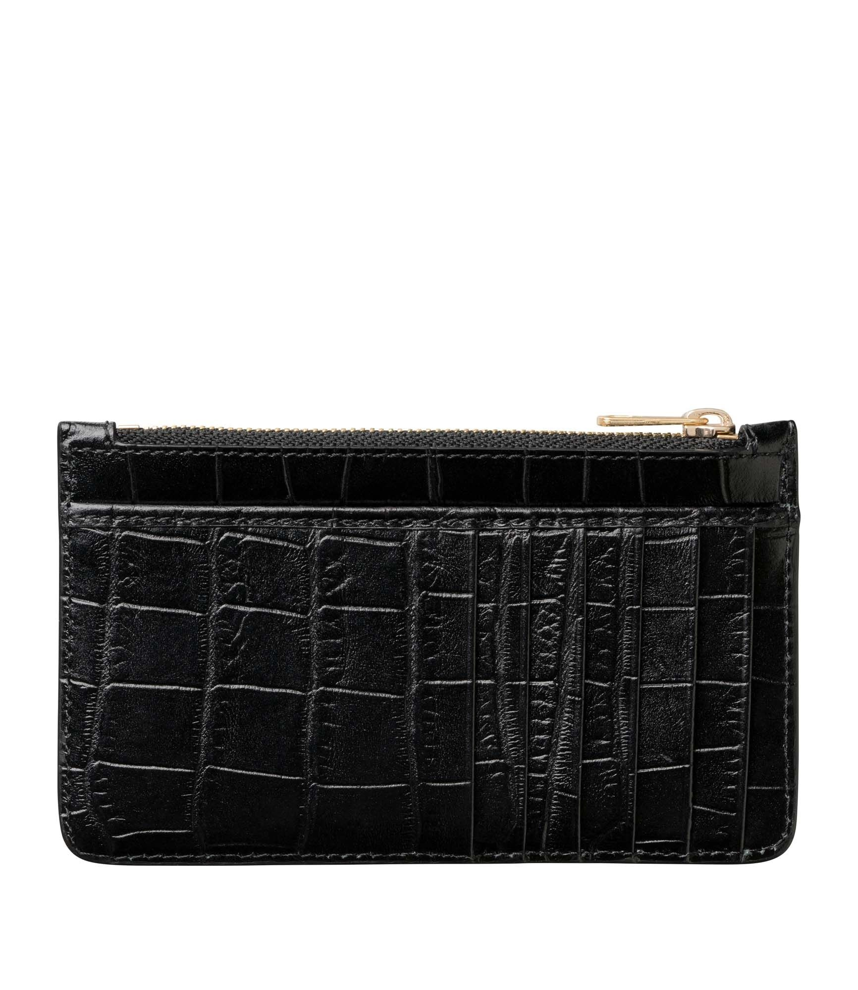 Willow Cardholder Black Crocodile