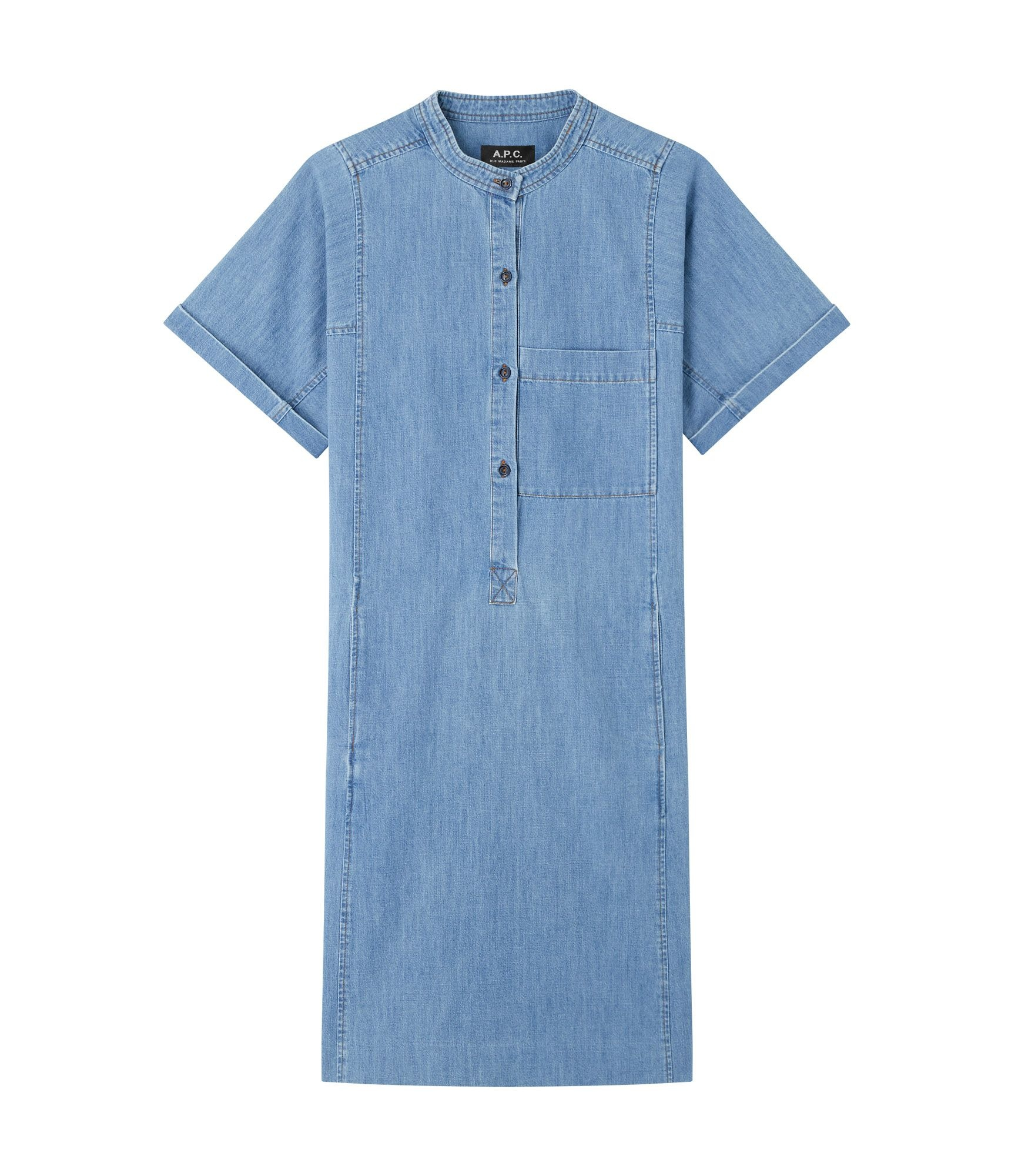 Temple Dress Light Blue Jeans