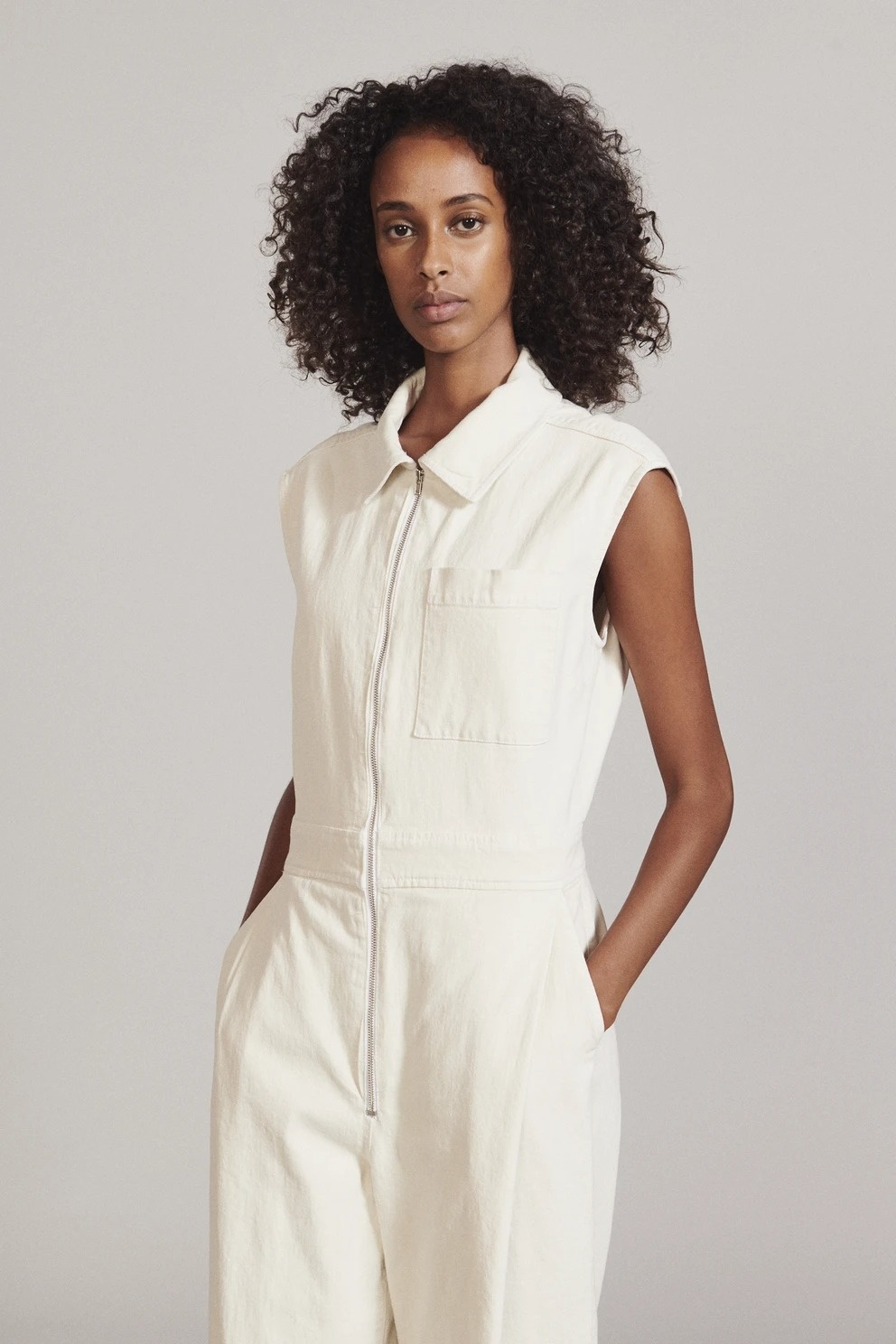 Annin Jumpsuit Dirty White