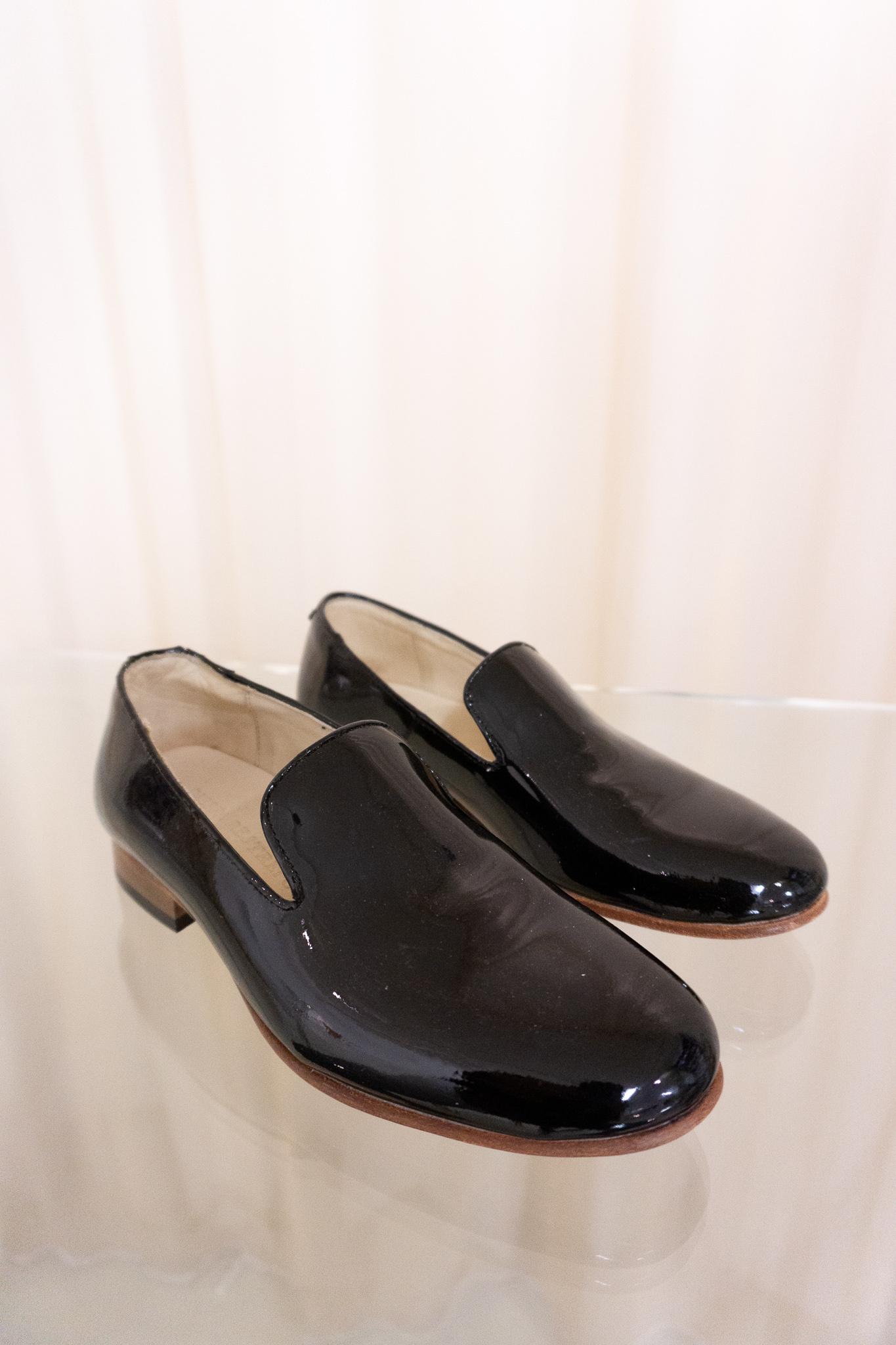 Loafer black laquer