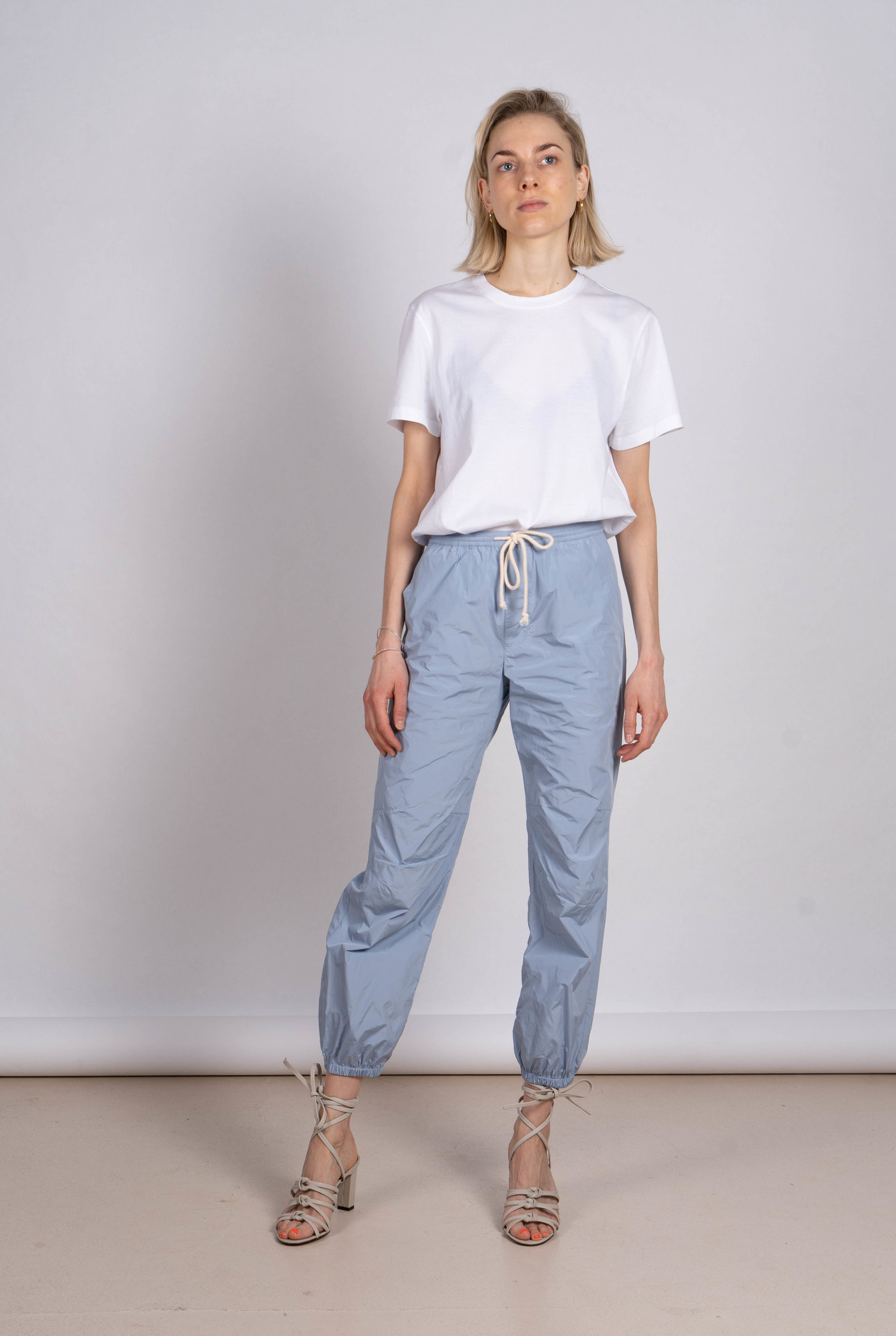 Light blue tracking trousers
