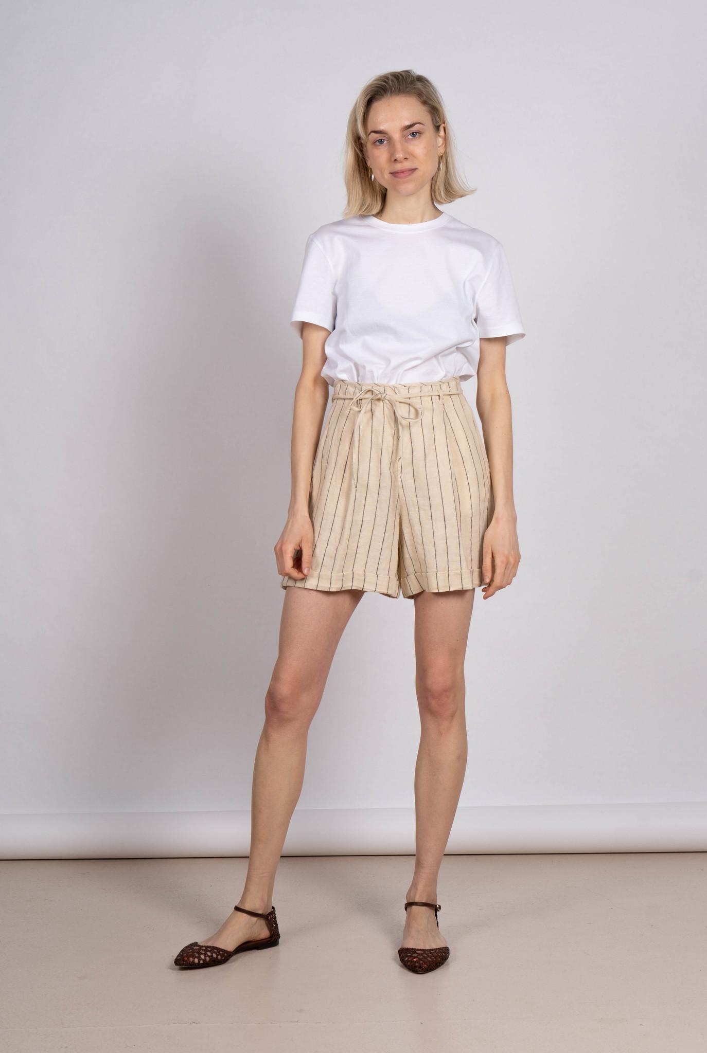 Shorts Ecru stripe