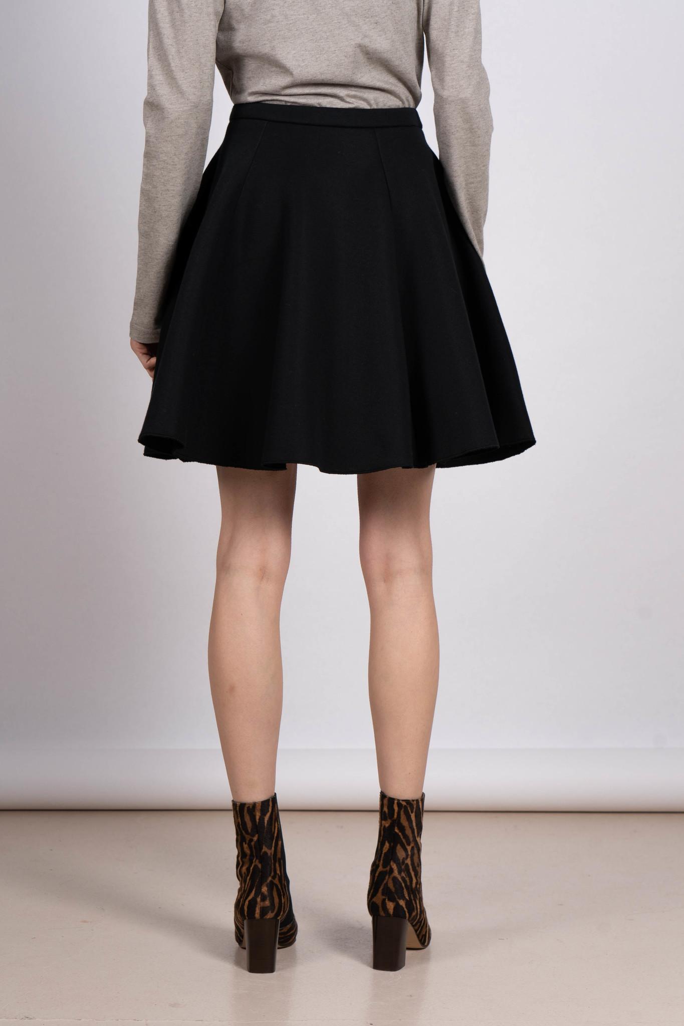 Flared skirt black