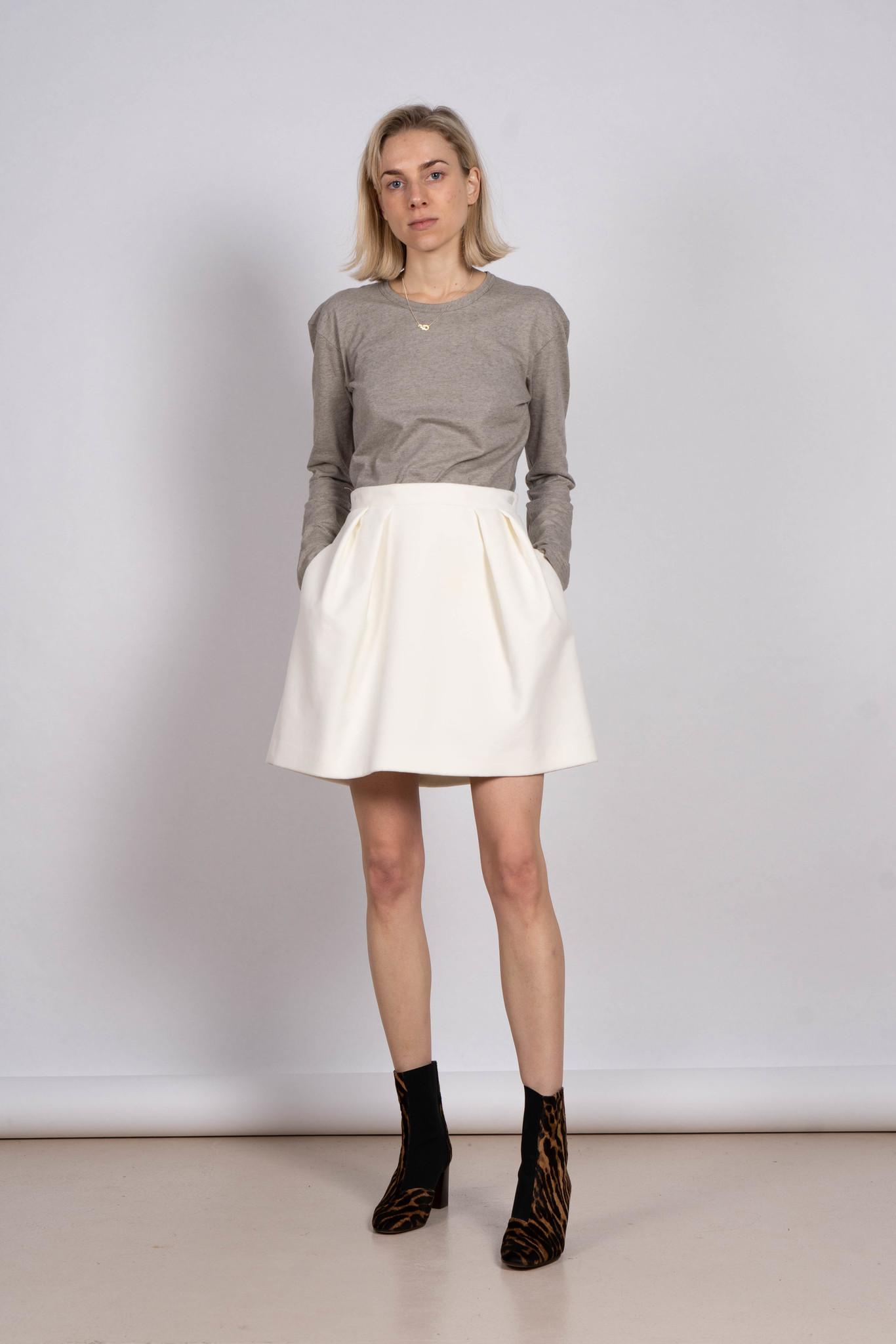 velvet skirt crème