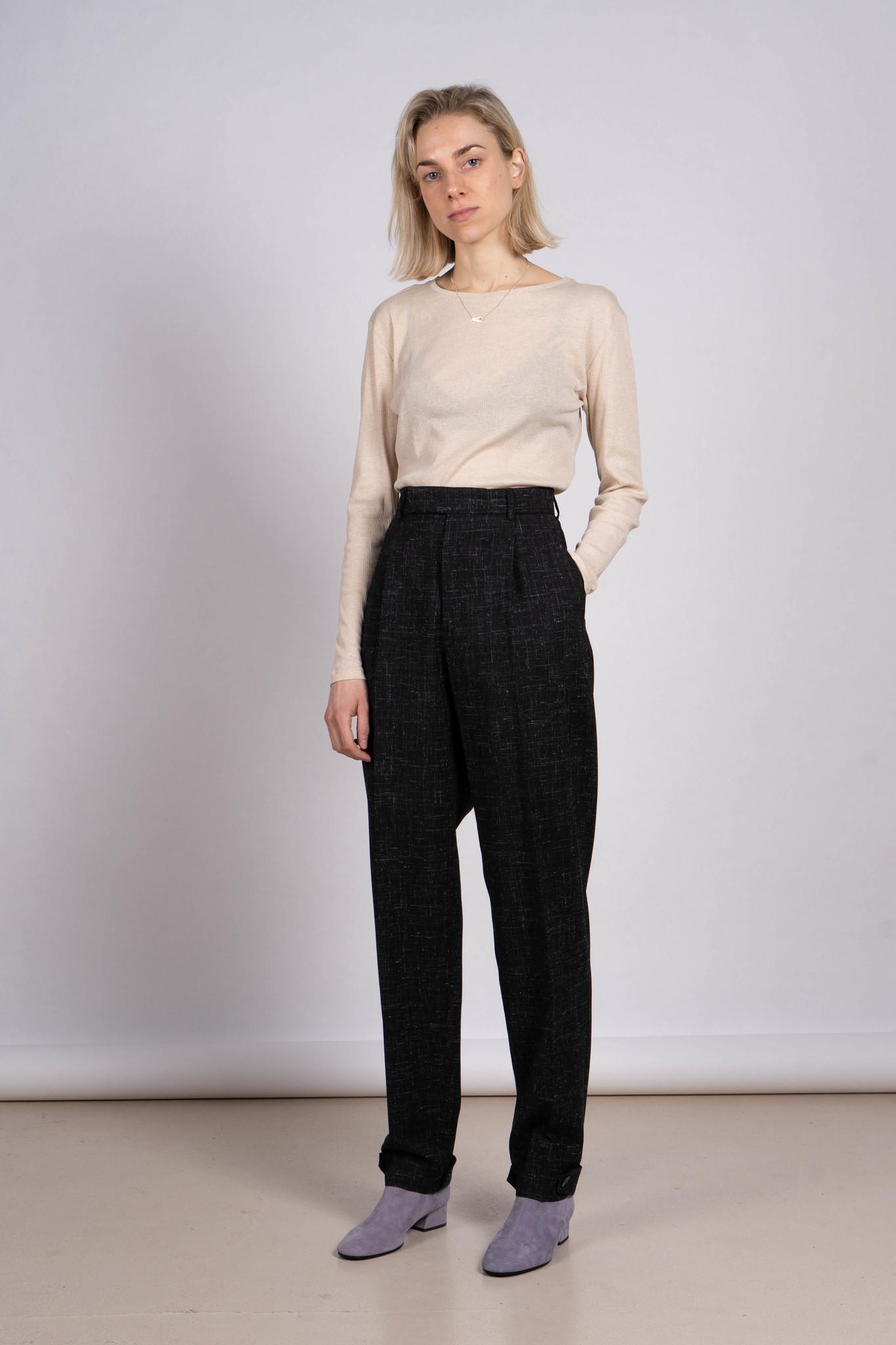 Alta Cuff trouser Black Structure