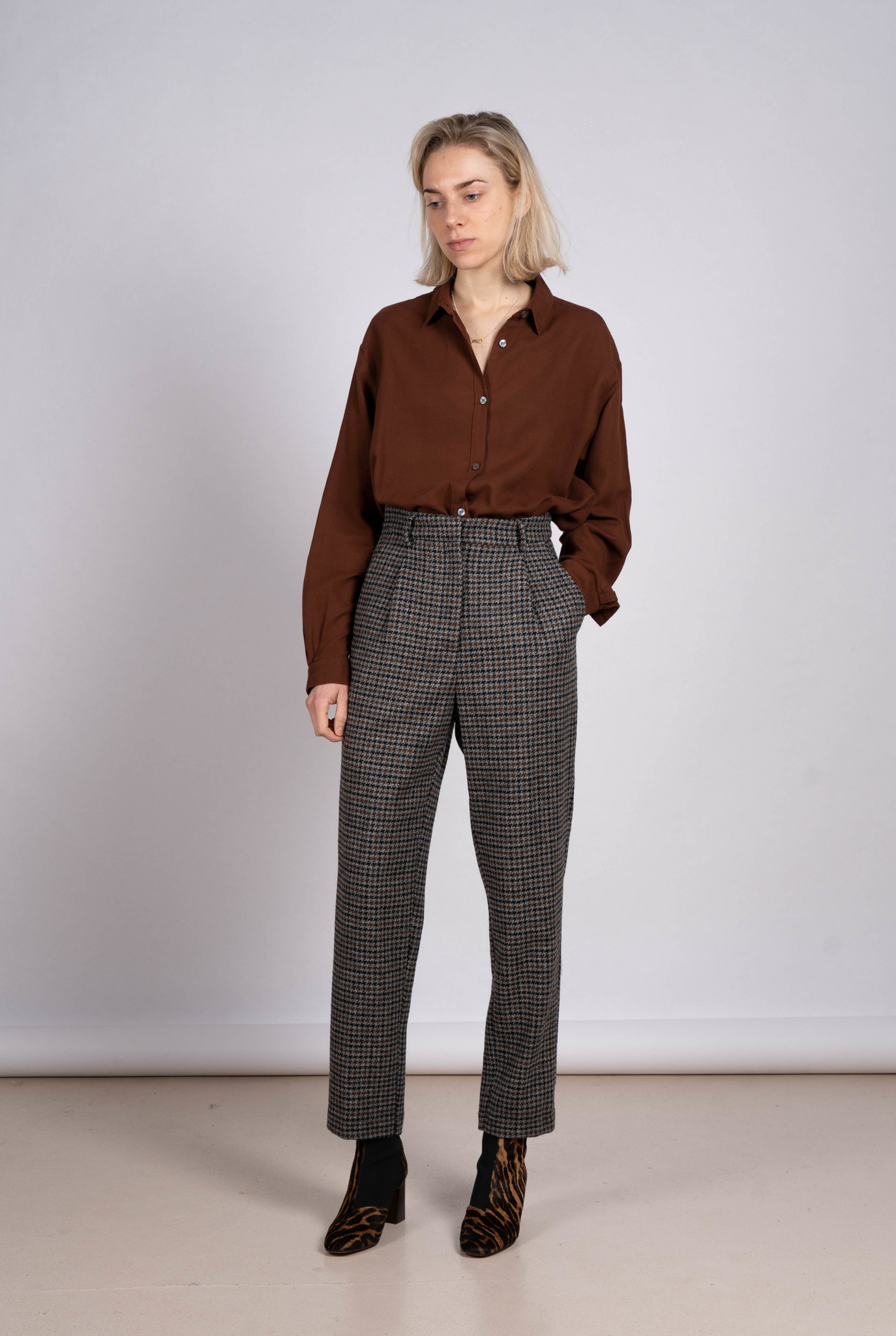 Trouser Wool Check