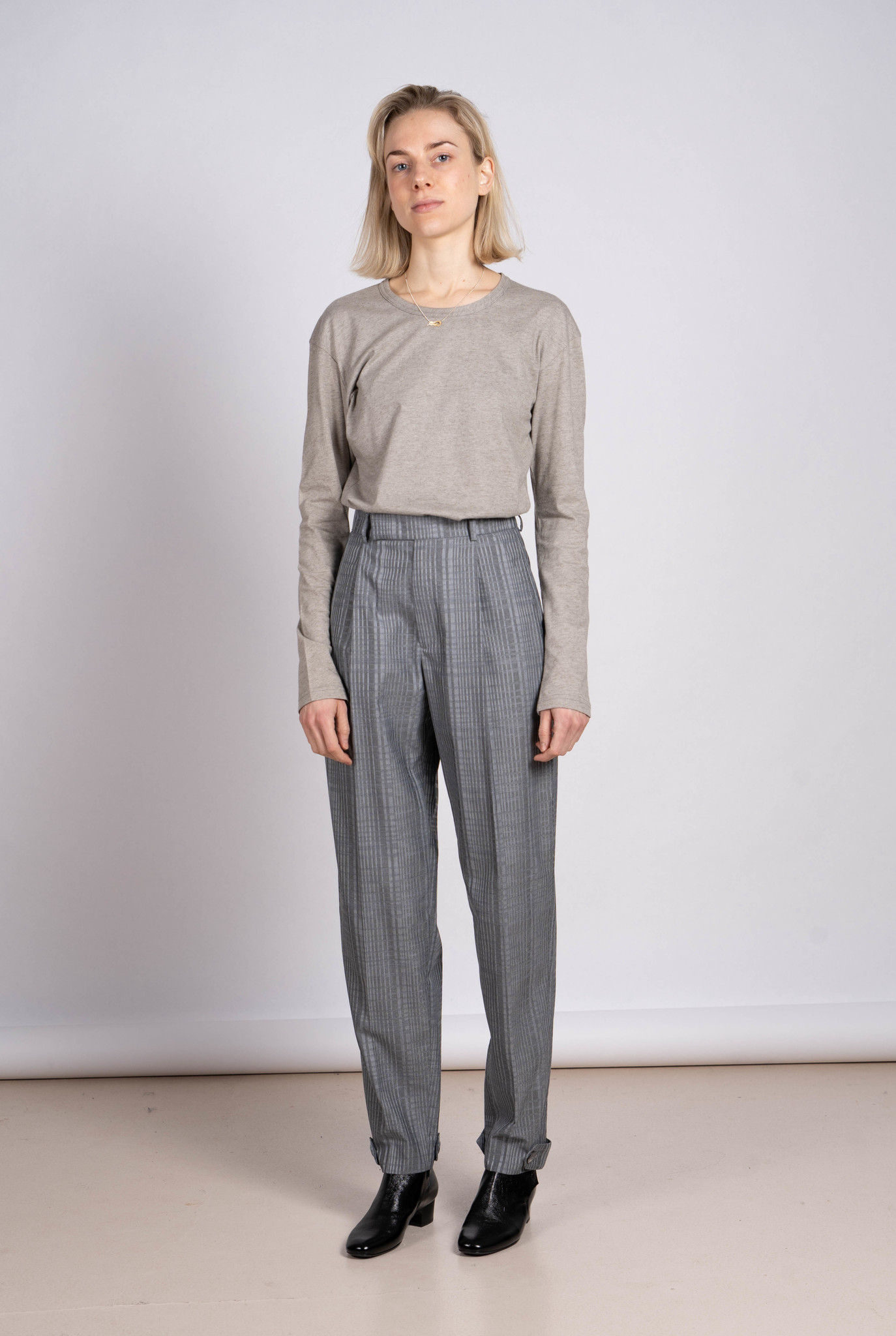 Alta Cuff Trouser Grey Check