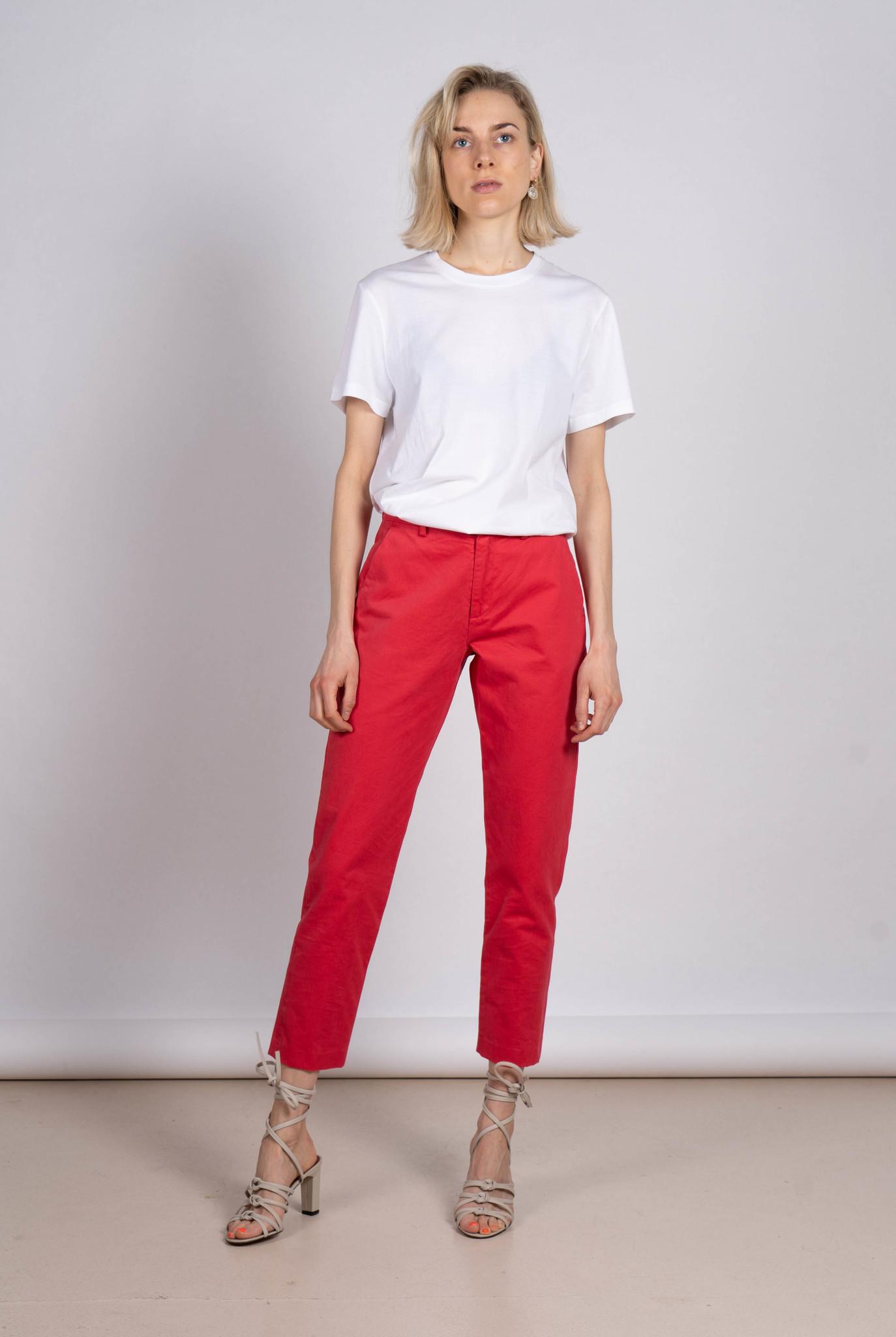 Lou chino pantalon poppy