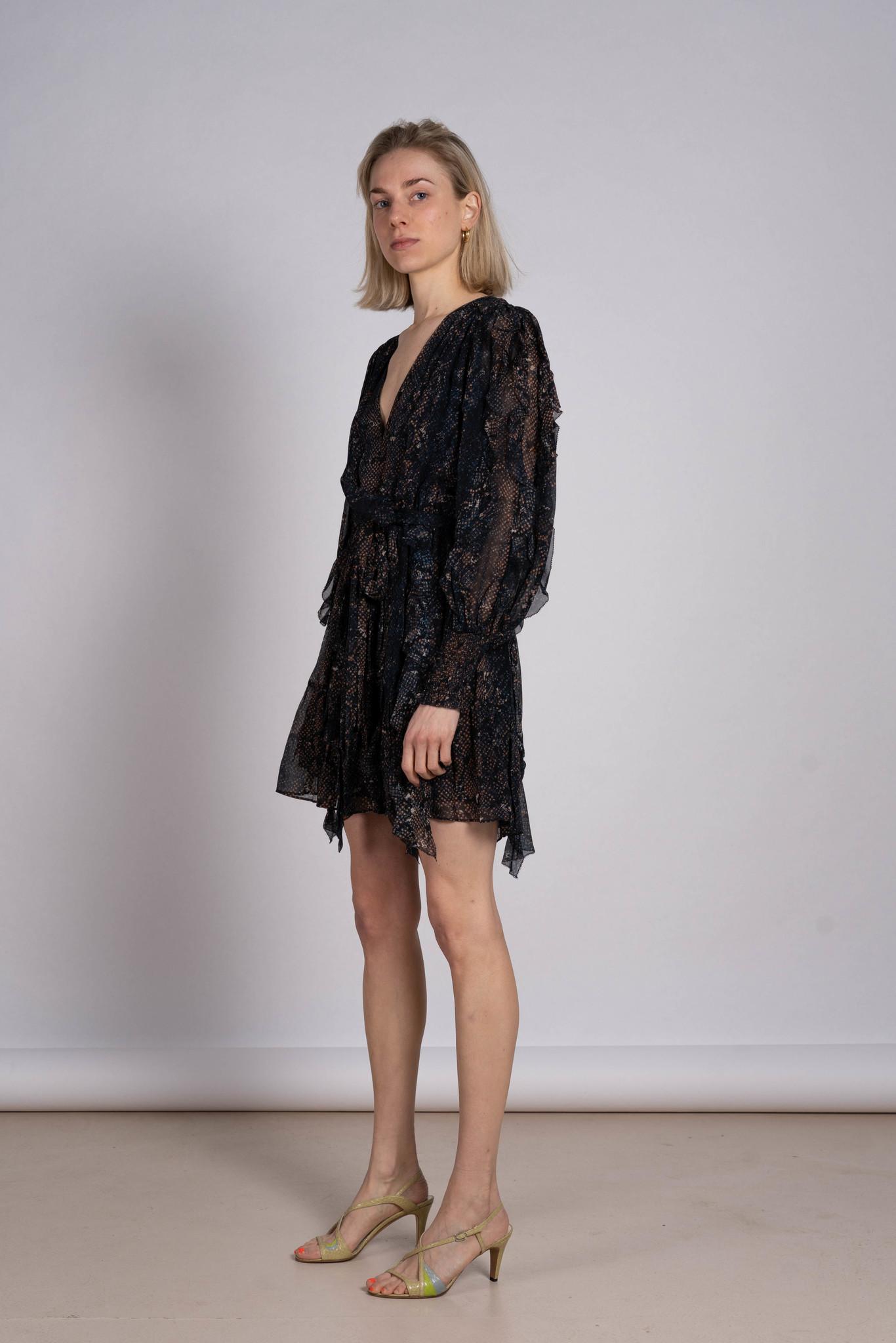 Natalia Dress Midnight Python