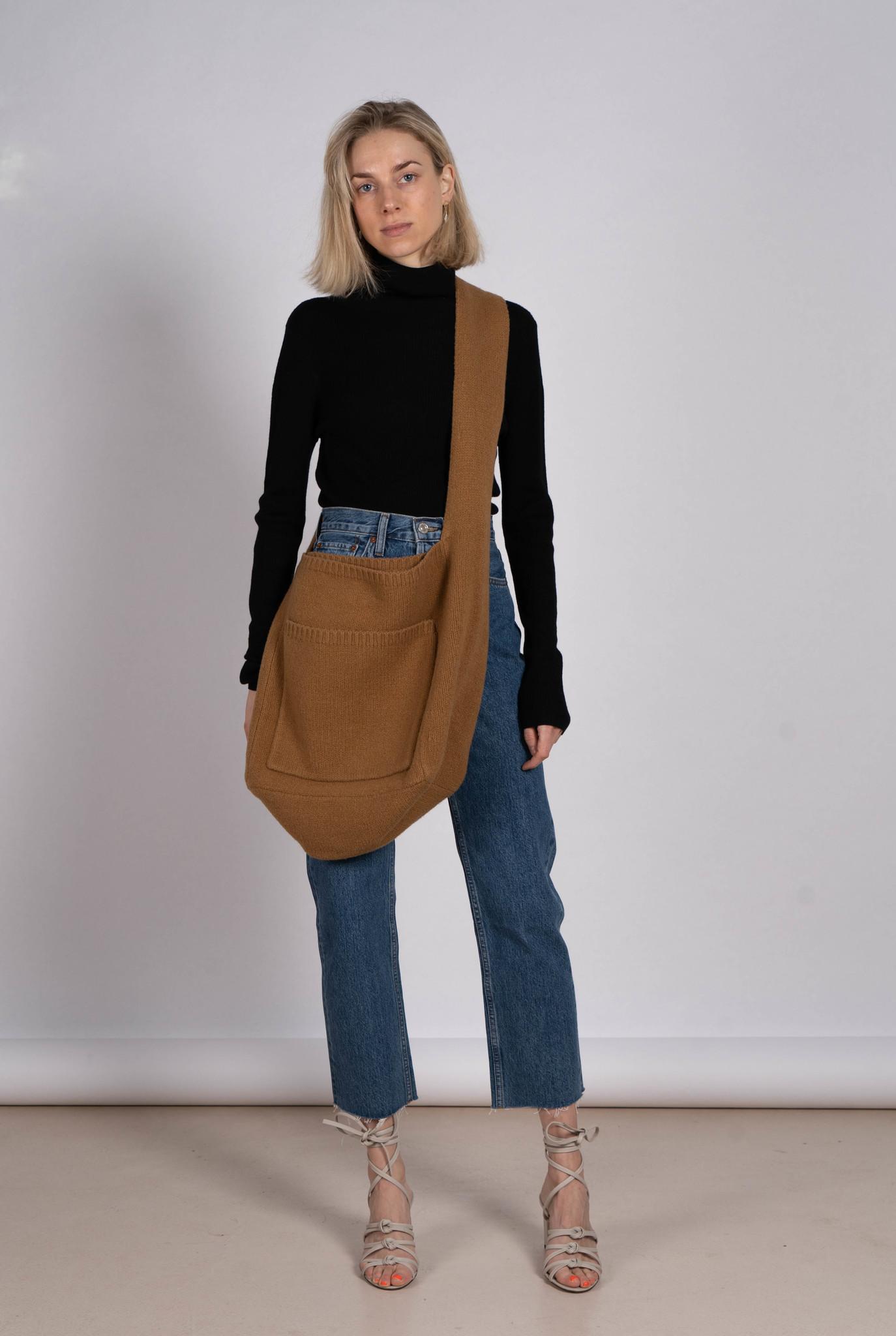 Bag Boiled Wool Camel