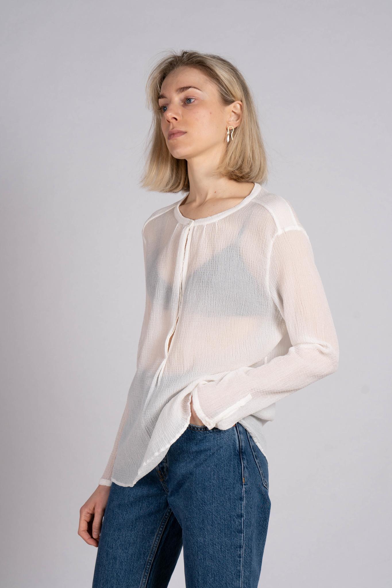 Waffled blouse off white