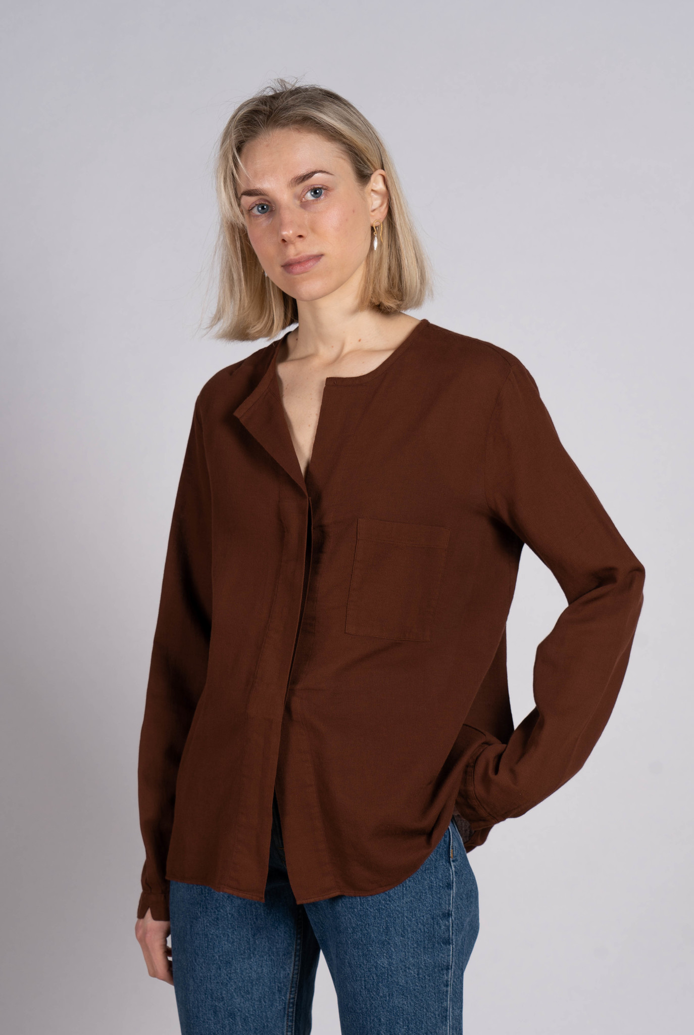 Blouse pocket Rust