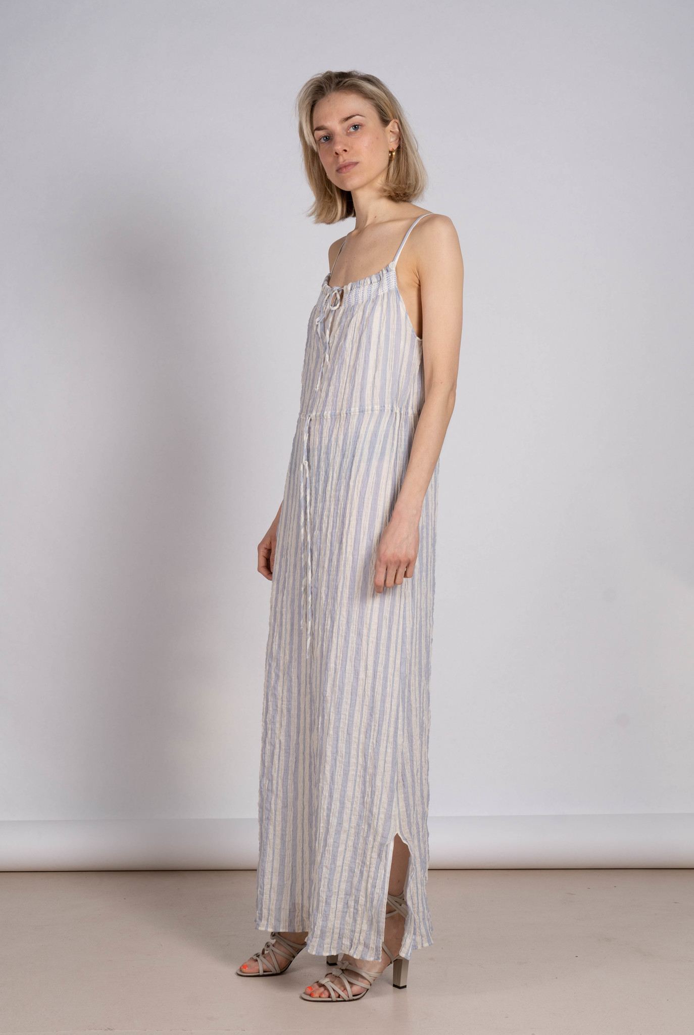 Dress Eraldo light blue stripe