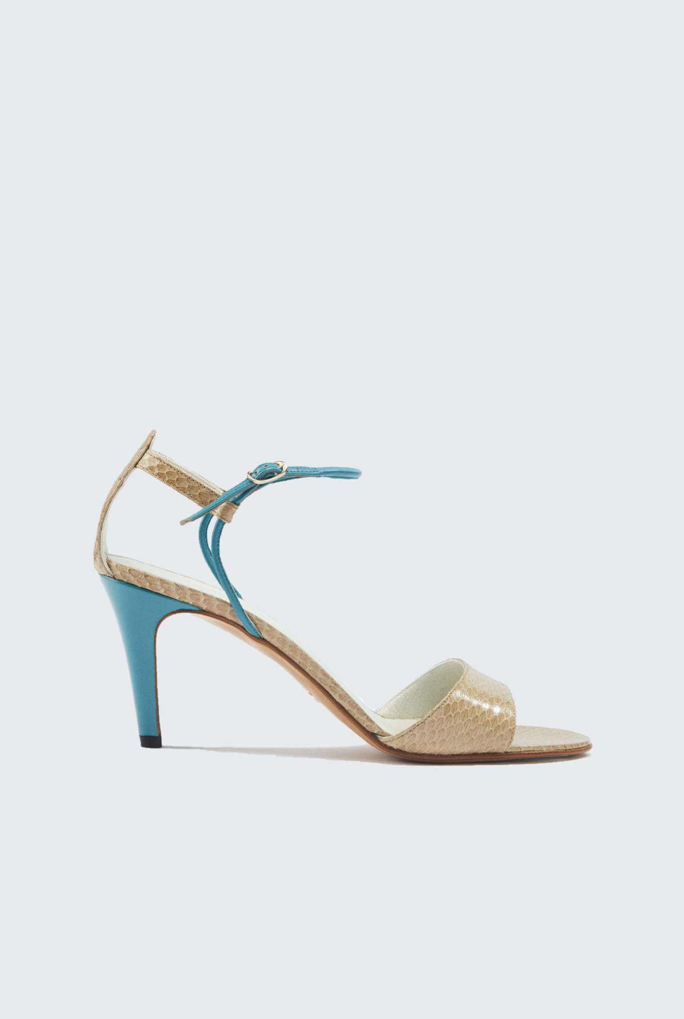 Meri Heels Sabbia Bleu Sarcelle
