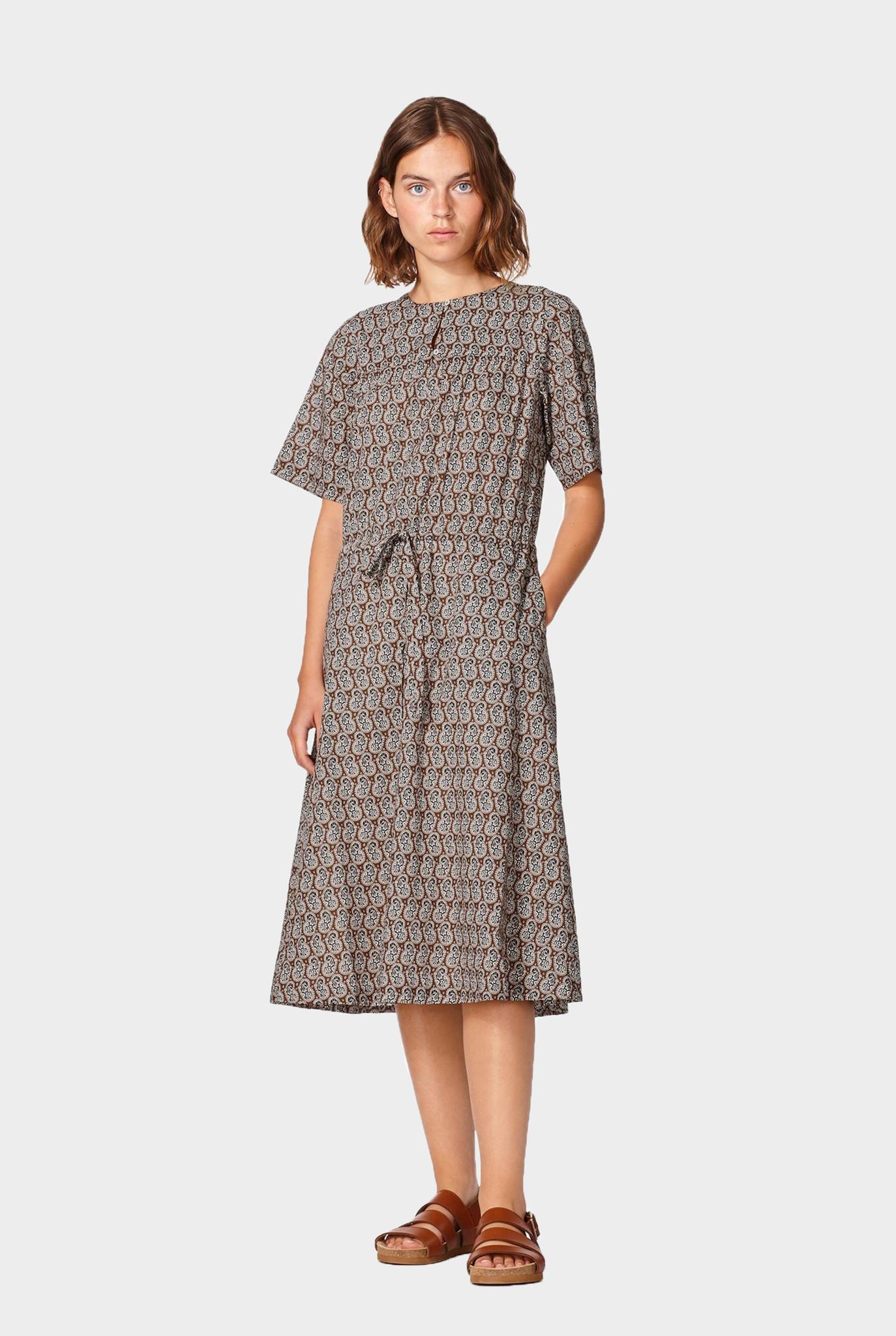 Elie Dress Hazelnut Print