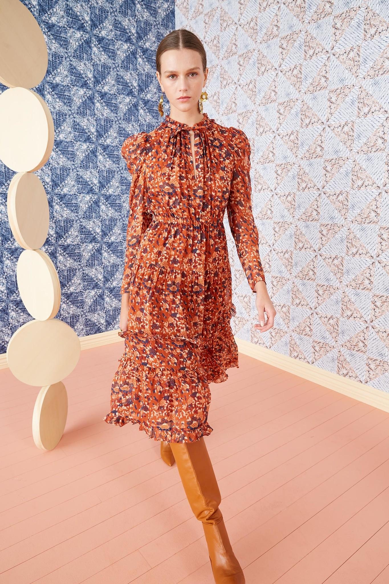 Beatrice Dress Poppy