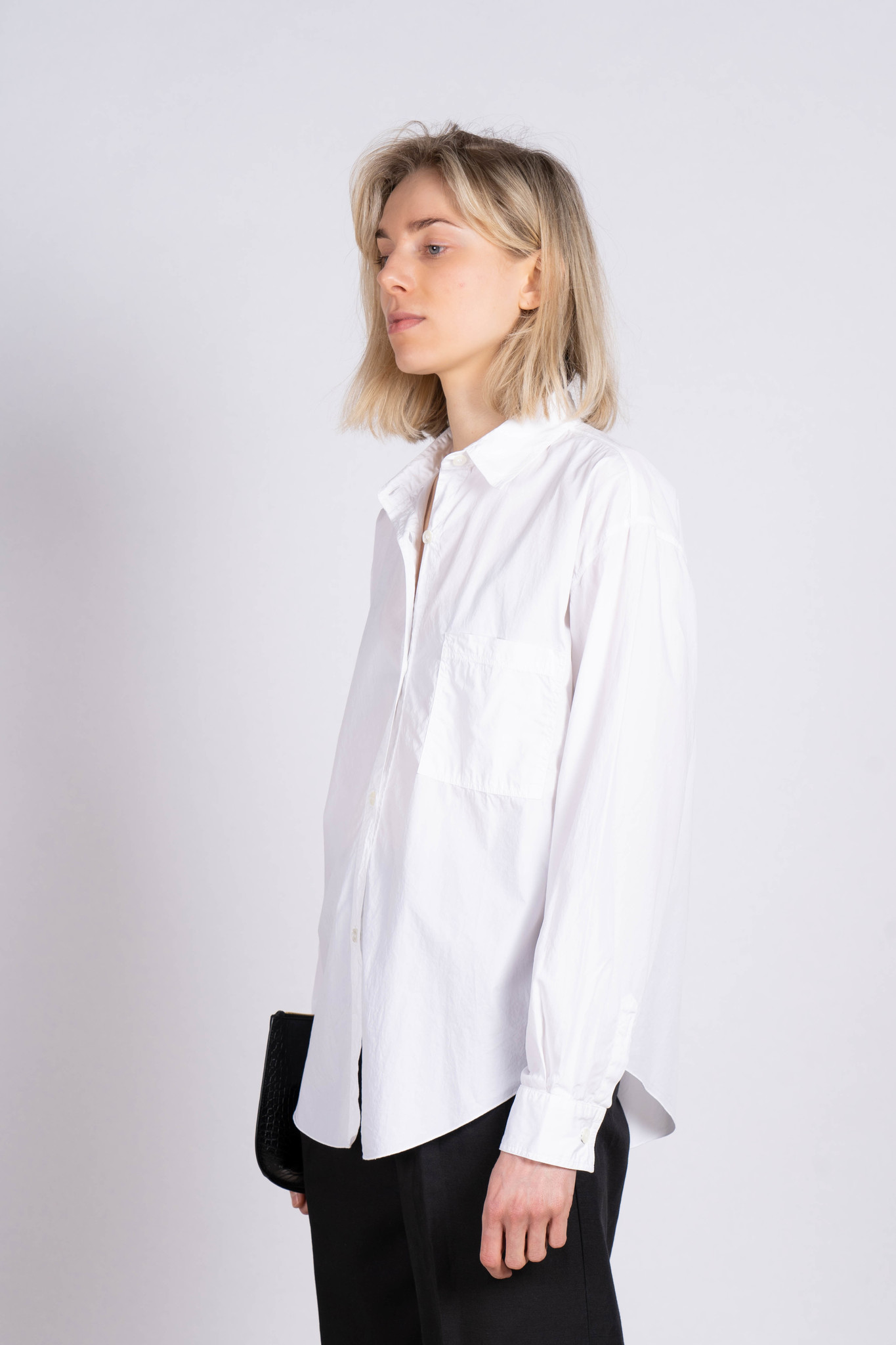 Blouse Chest Pocket White