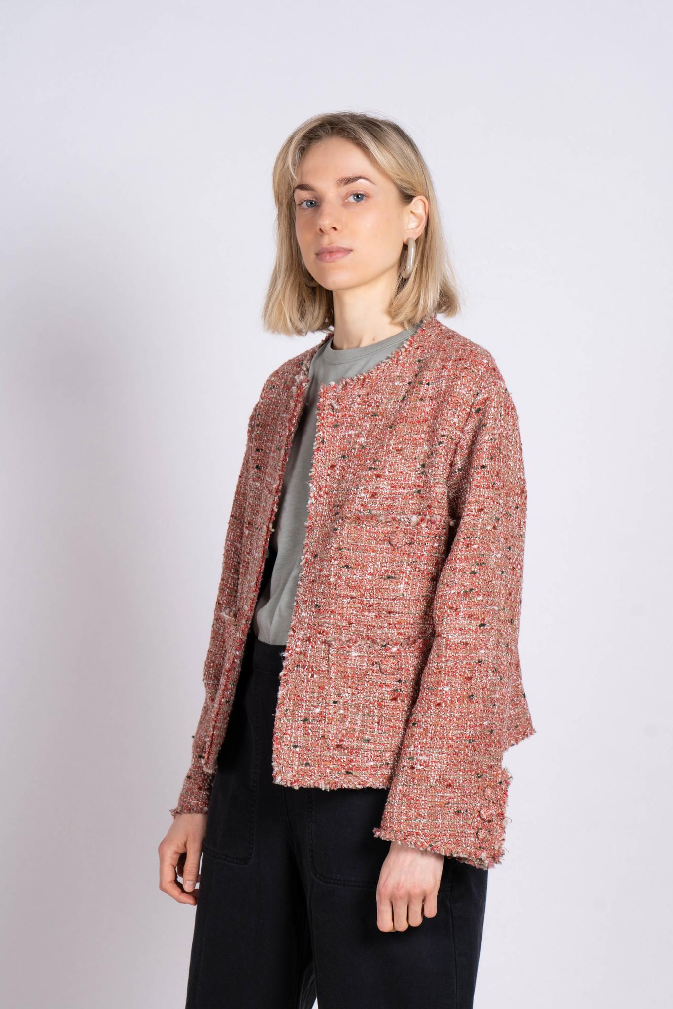 Tweed Jacket Red Pink