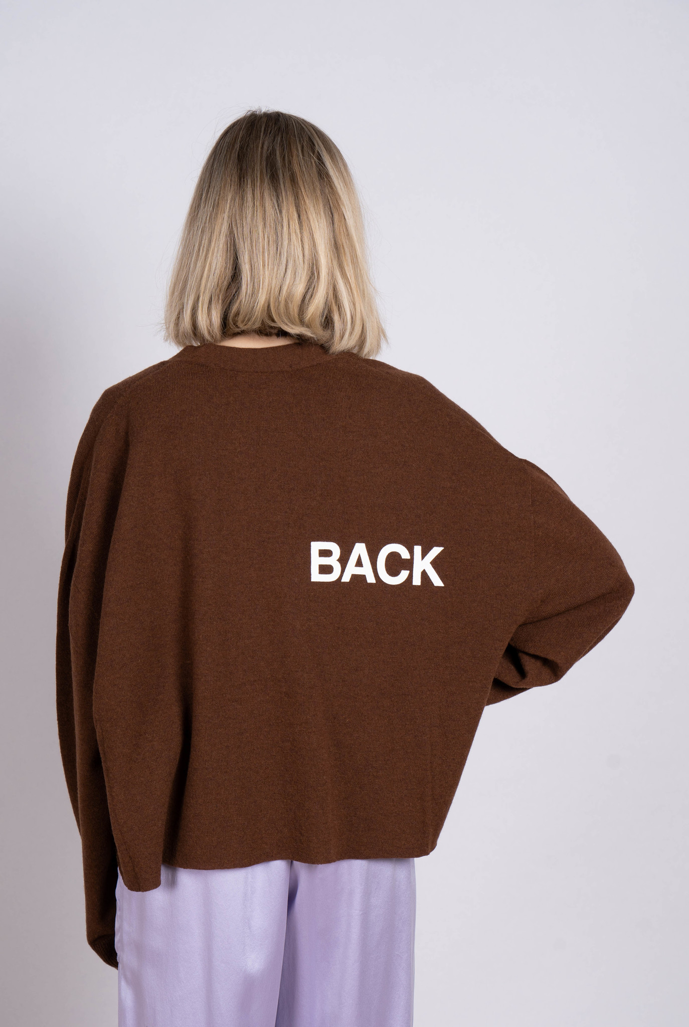 """Cardigan Brown """"It was back"""""""