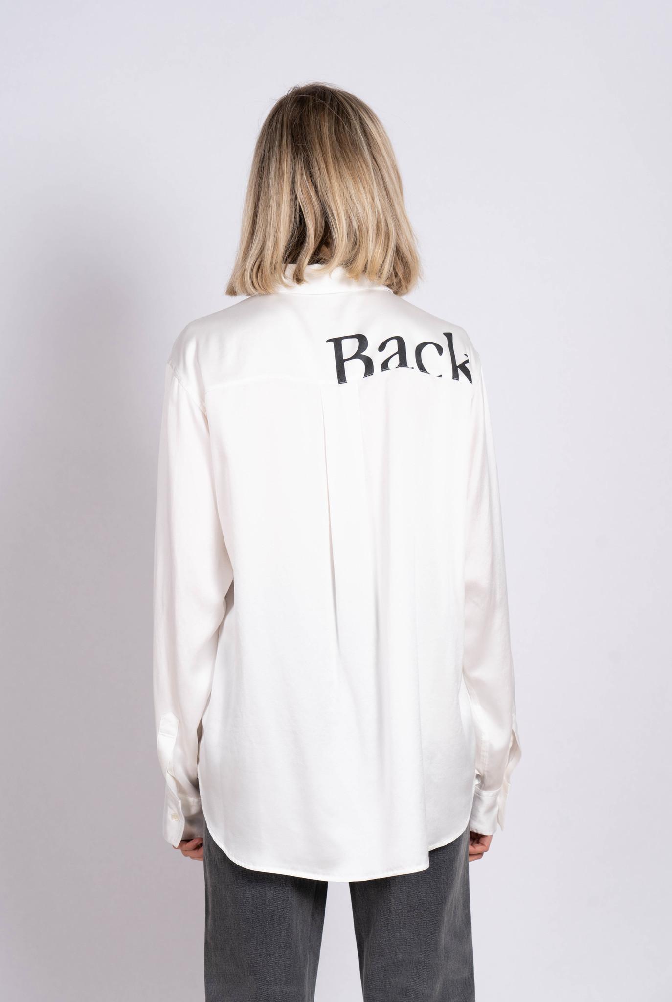 "Blouse White Silk ""Back"""