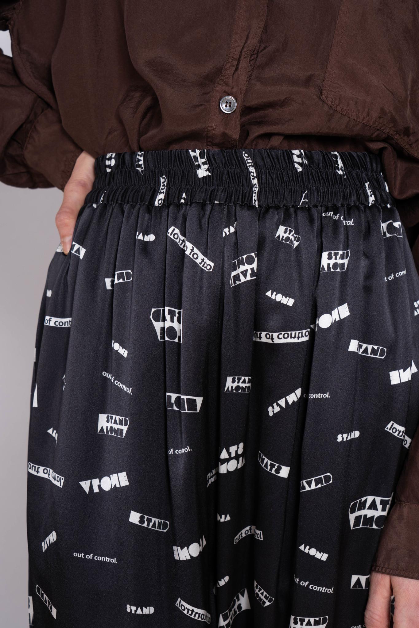 """Trouser """"Stand Alone"""" Silk Black/White"""