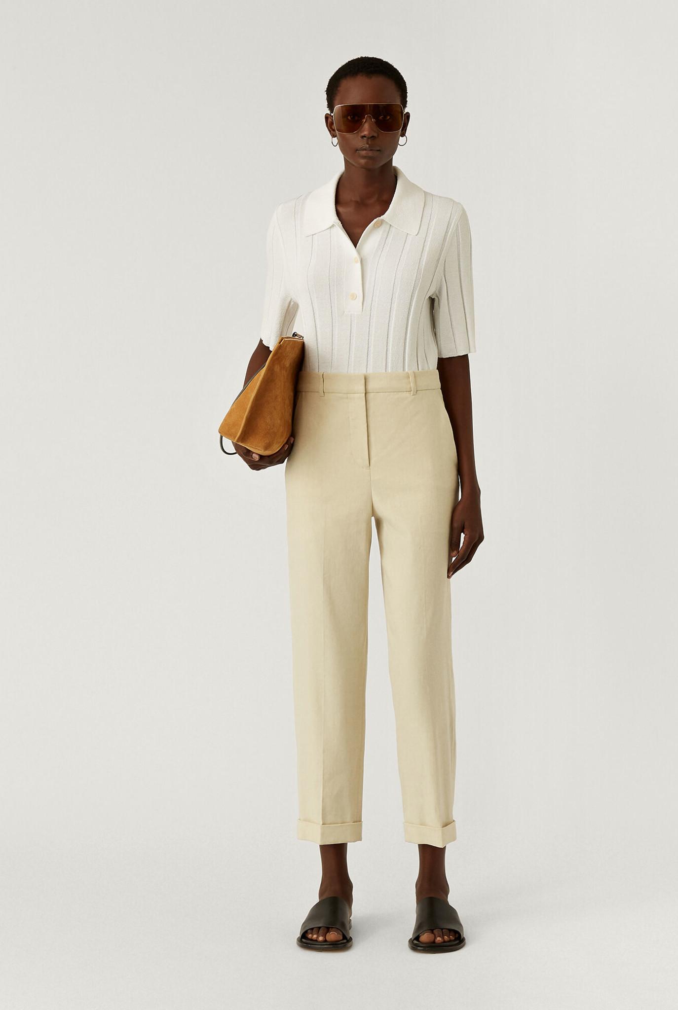 Trina Trousers Linen Cotton Oat