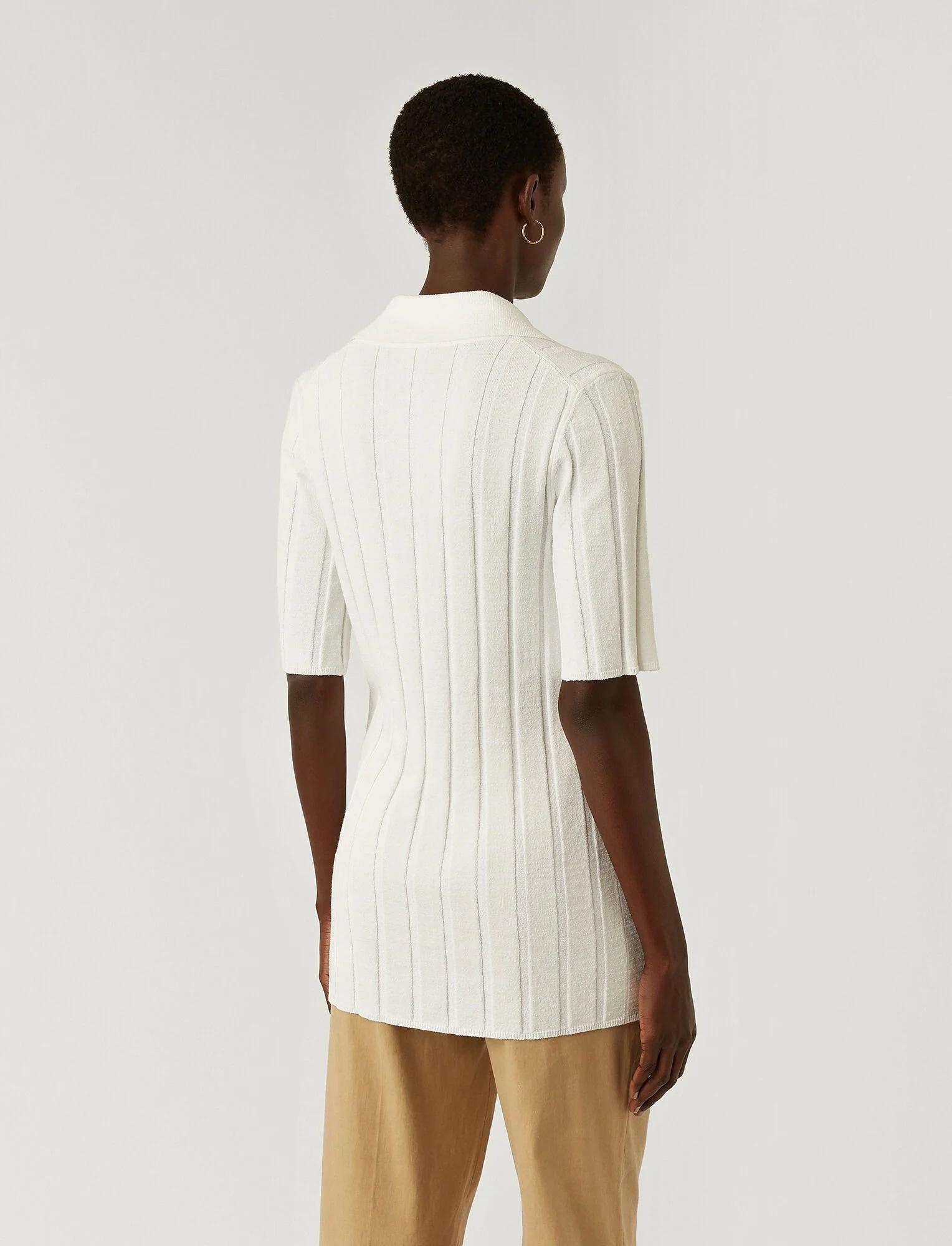 Polo Textured Rib Off White