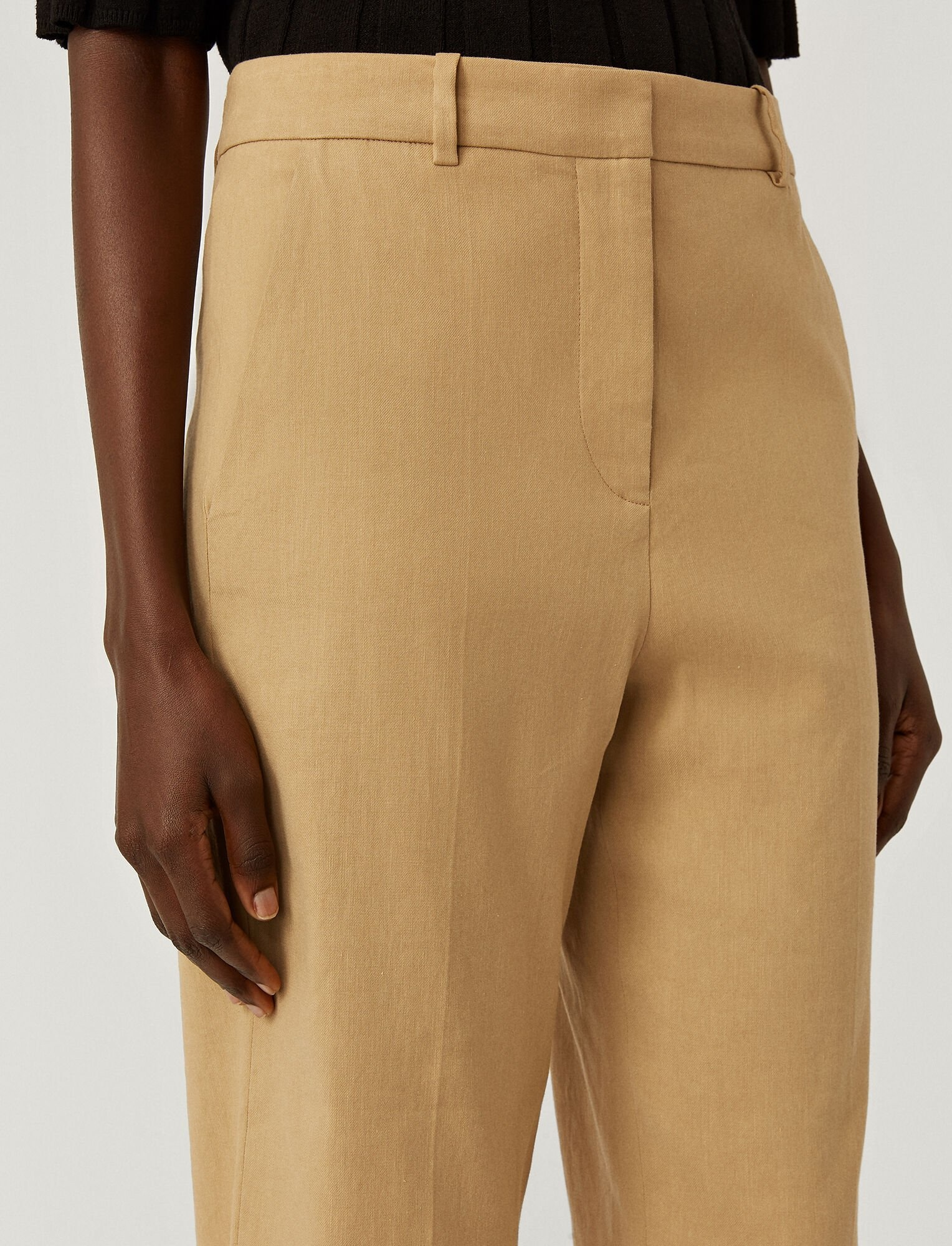 Trina Trousers Linen Cotton Toffee