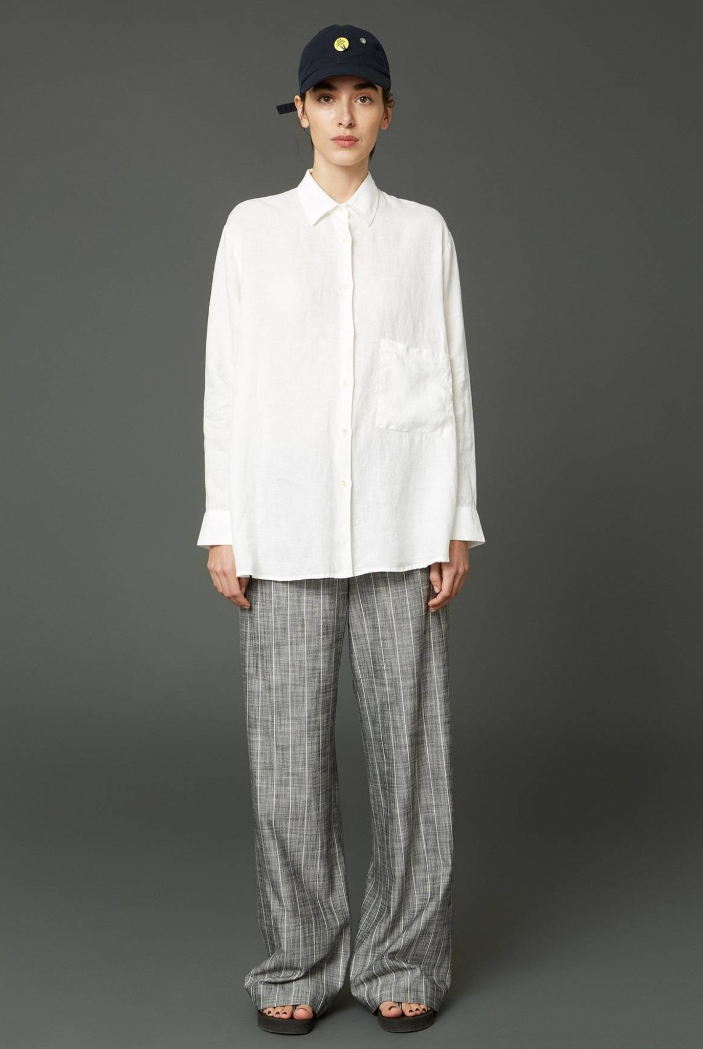 Elma Linen Shirt Transparent