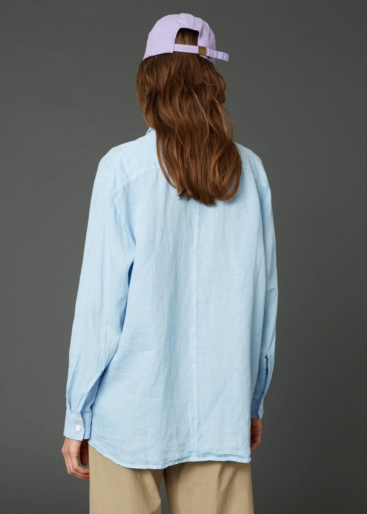 Elma linen shirt blue