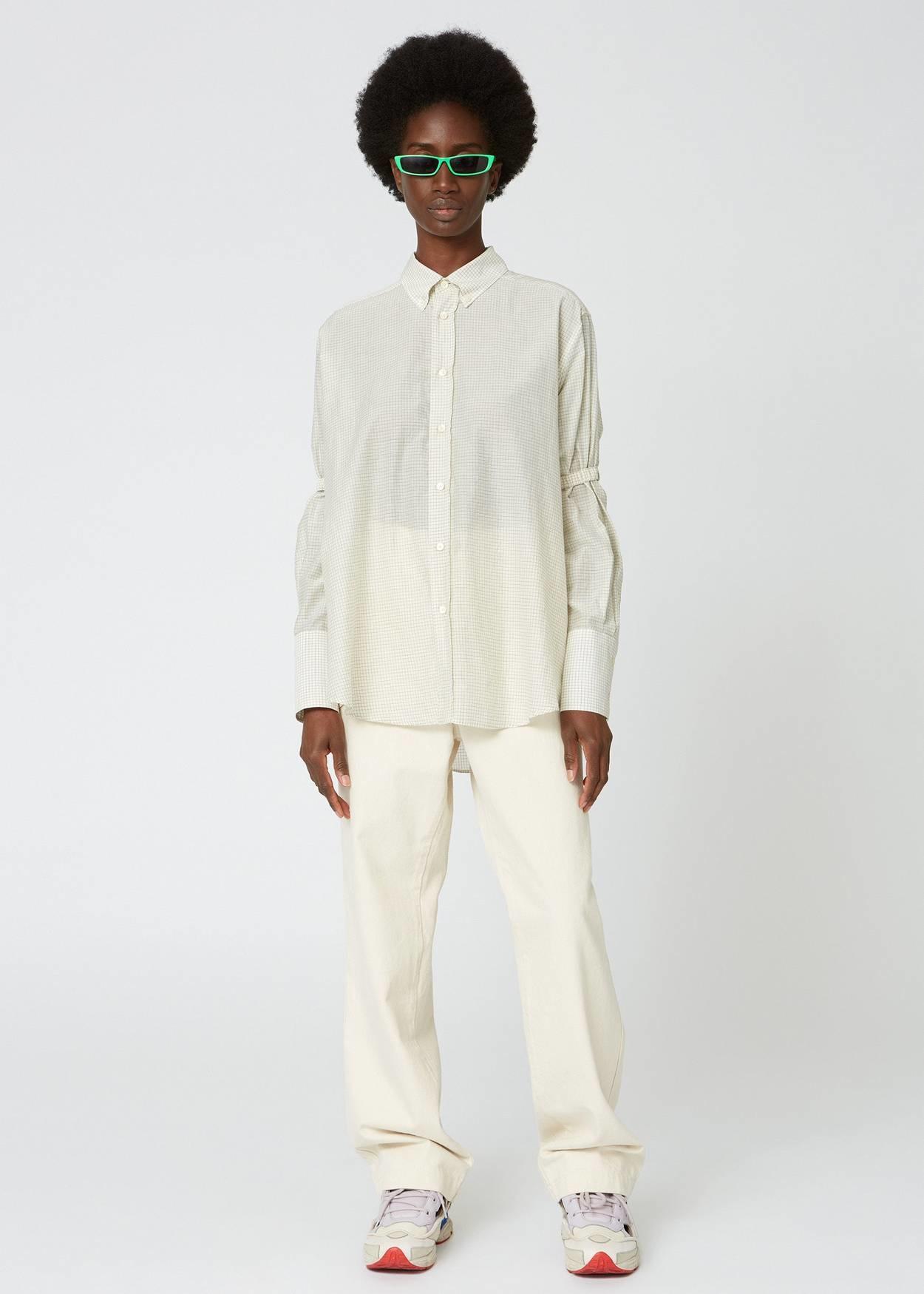 Trip Scrunchie Shirt White Check