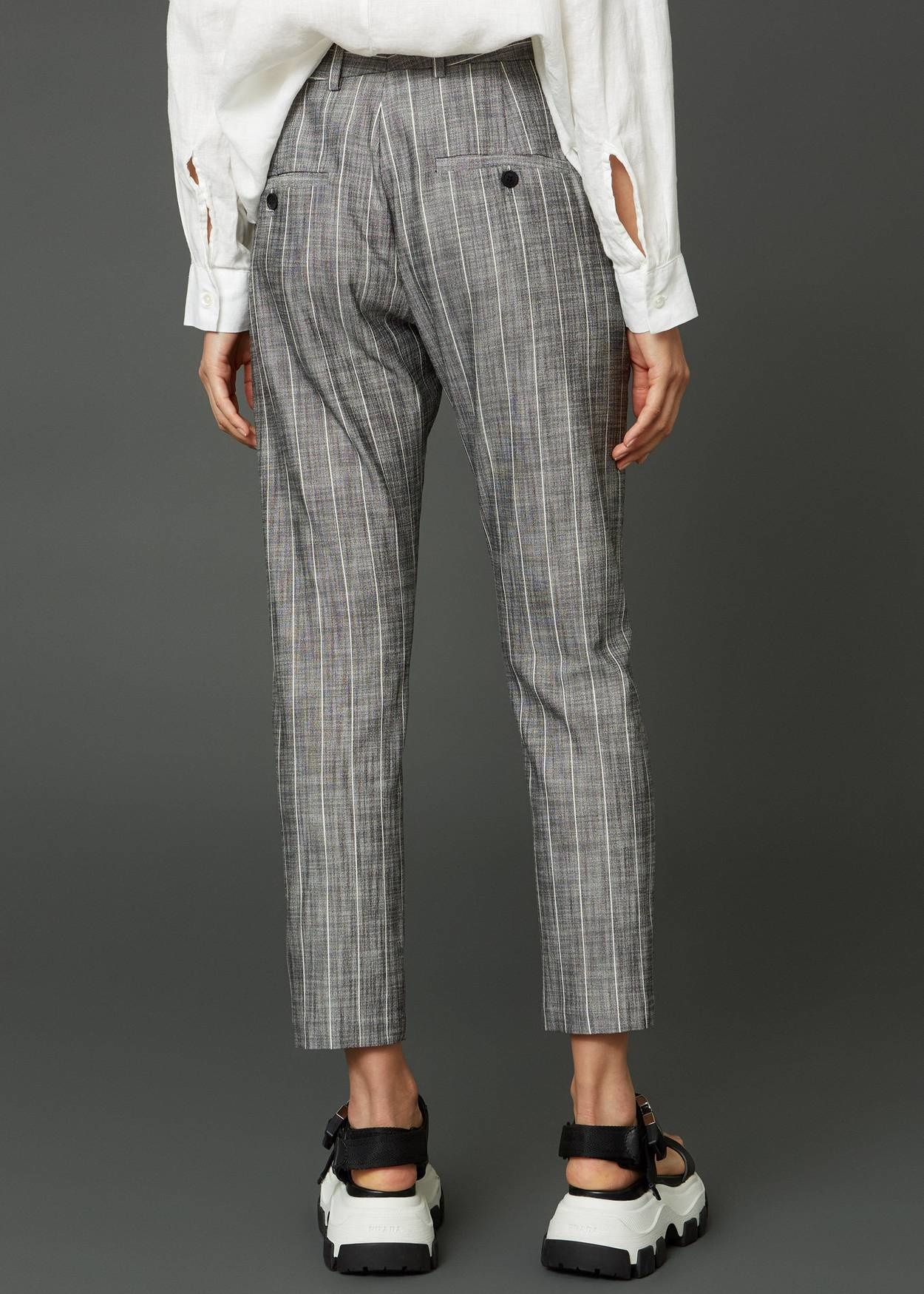News edit trouser grey stripe