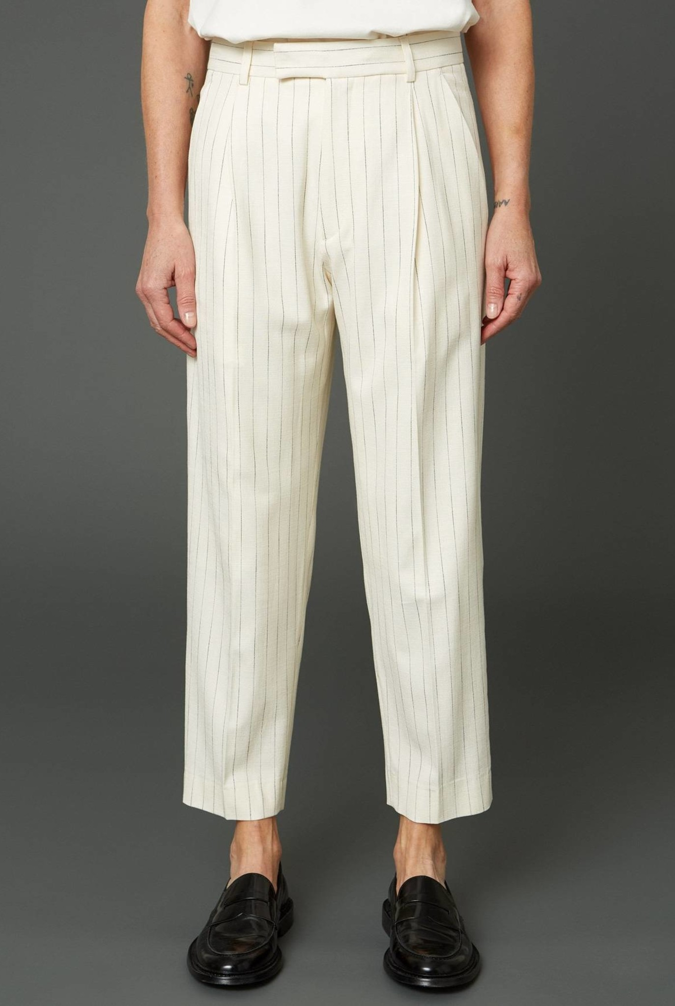 Alta trousers off white stripe
