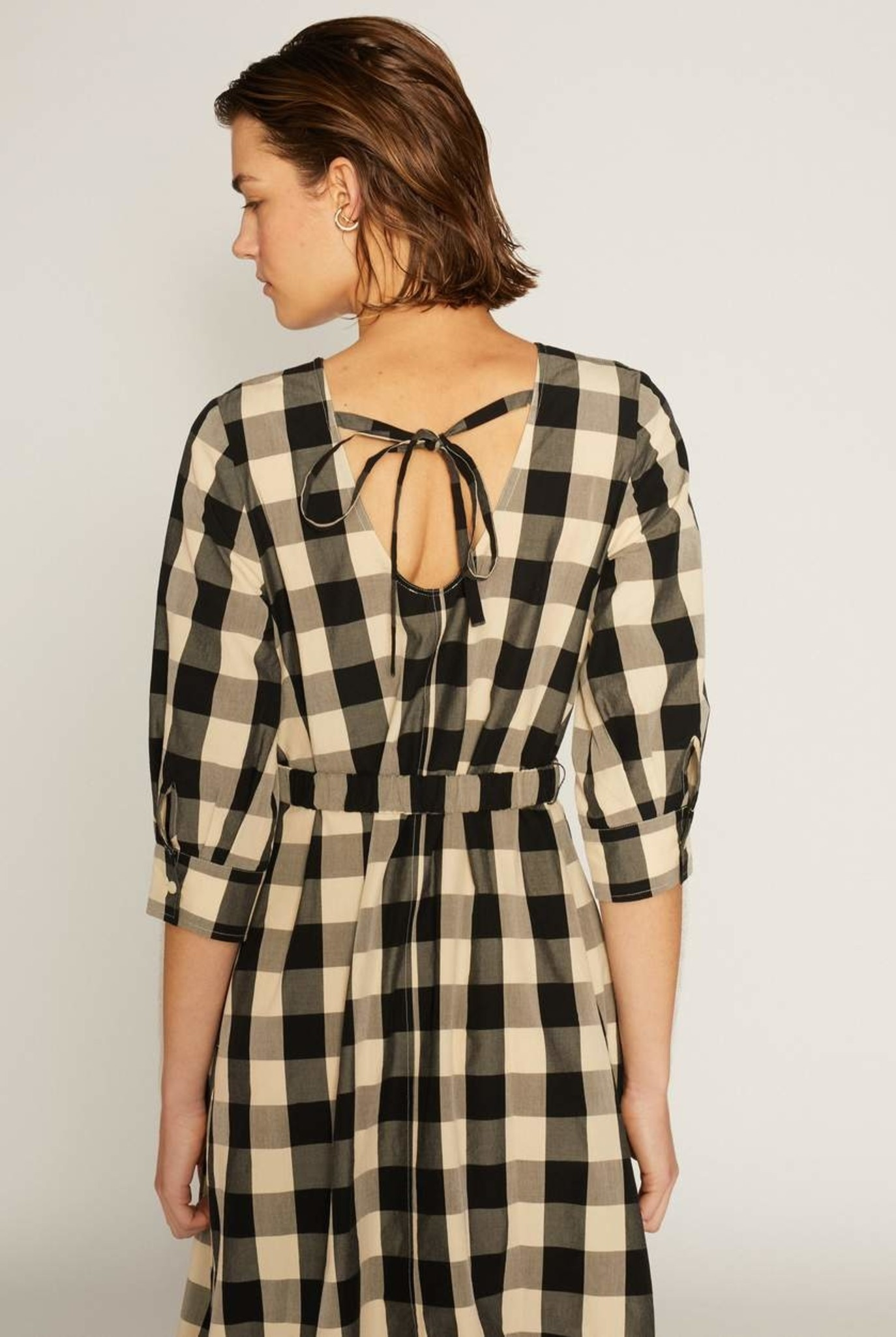 Bysee Dress Black / Ecru Check