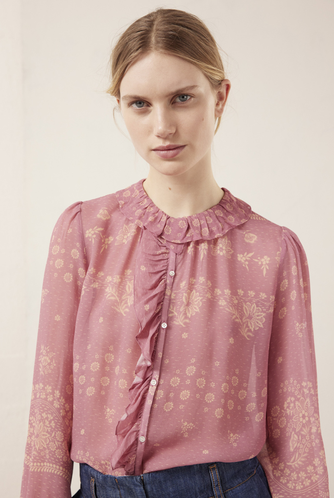 Peio Blouse Rose Flower Print