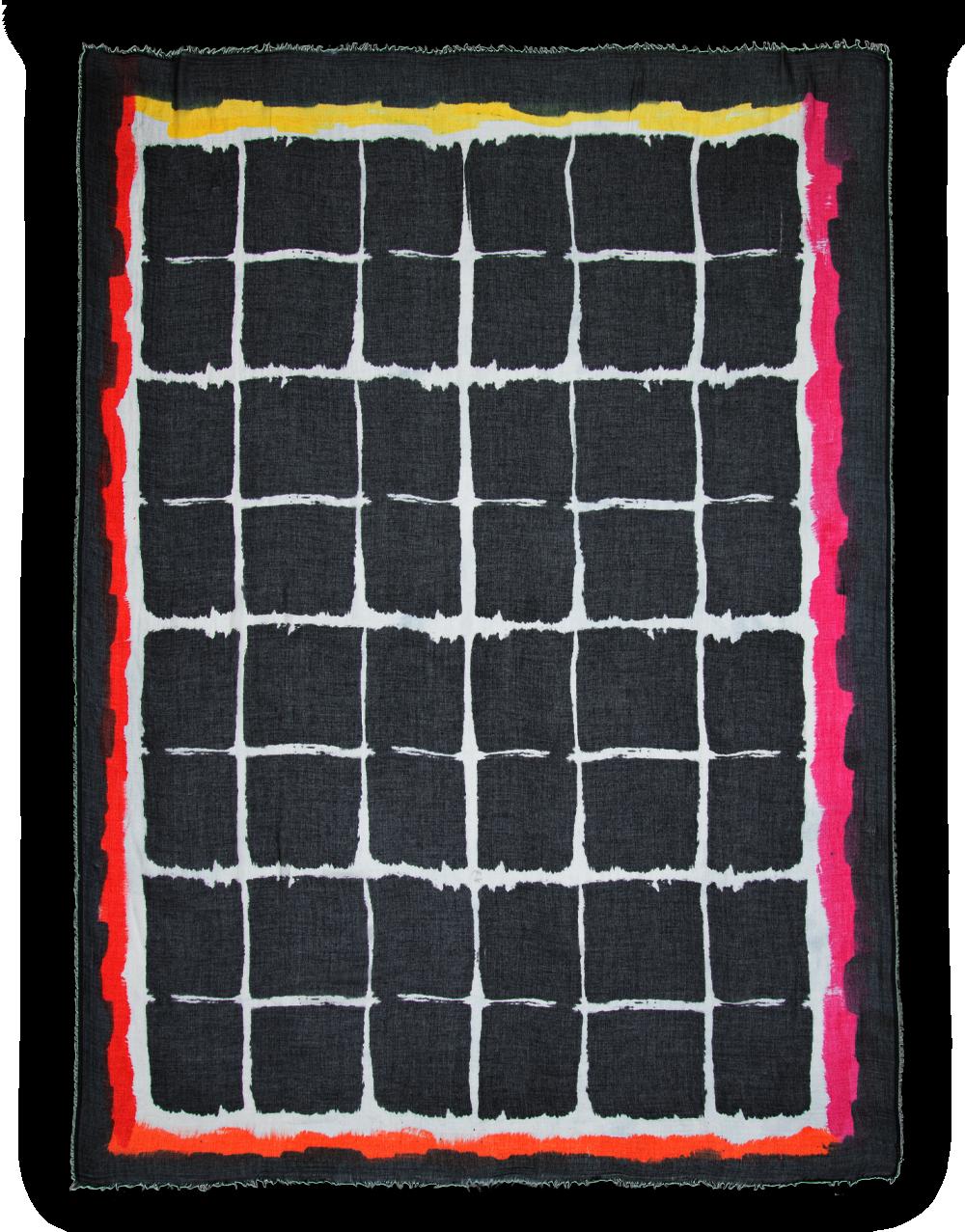 Giorgia scarf orange pink black white