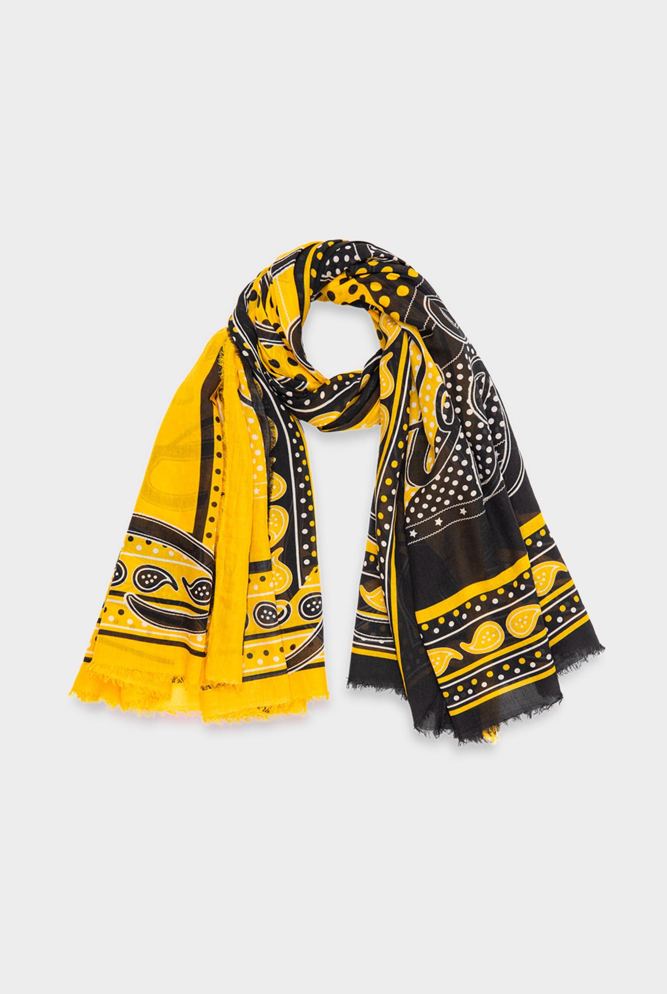 Monica scarf navy yellow