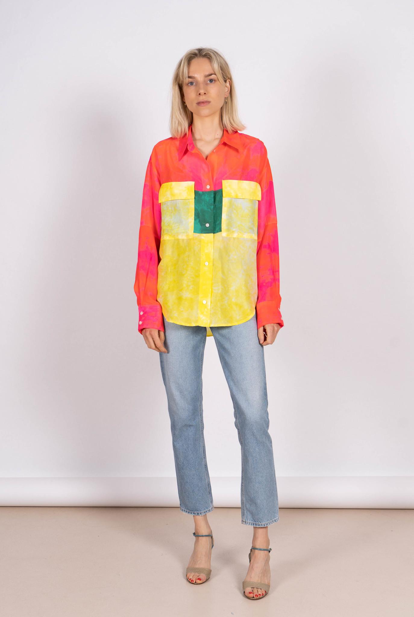 Scotch Shirt Tie Dye Silk Multi