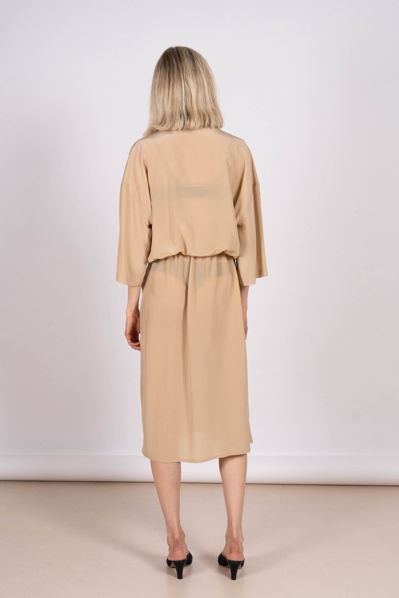 Every Dress Beige Silk