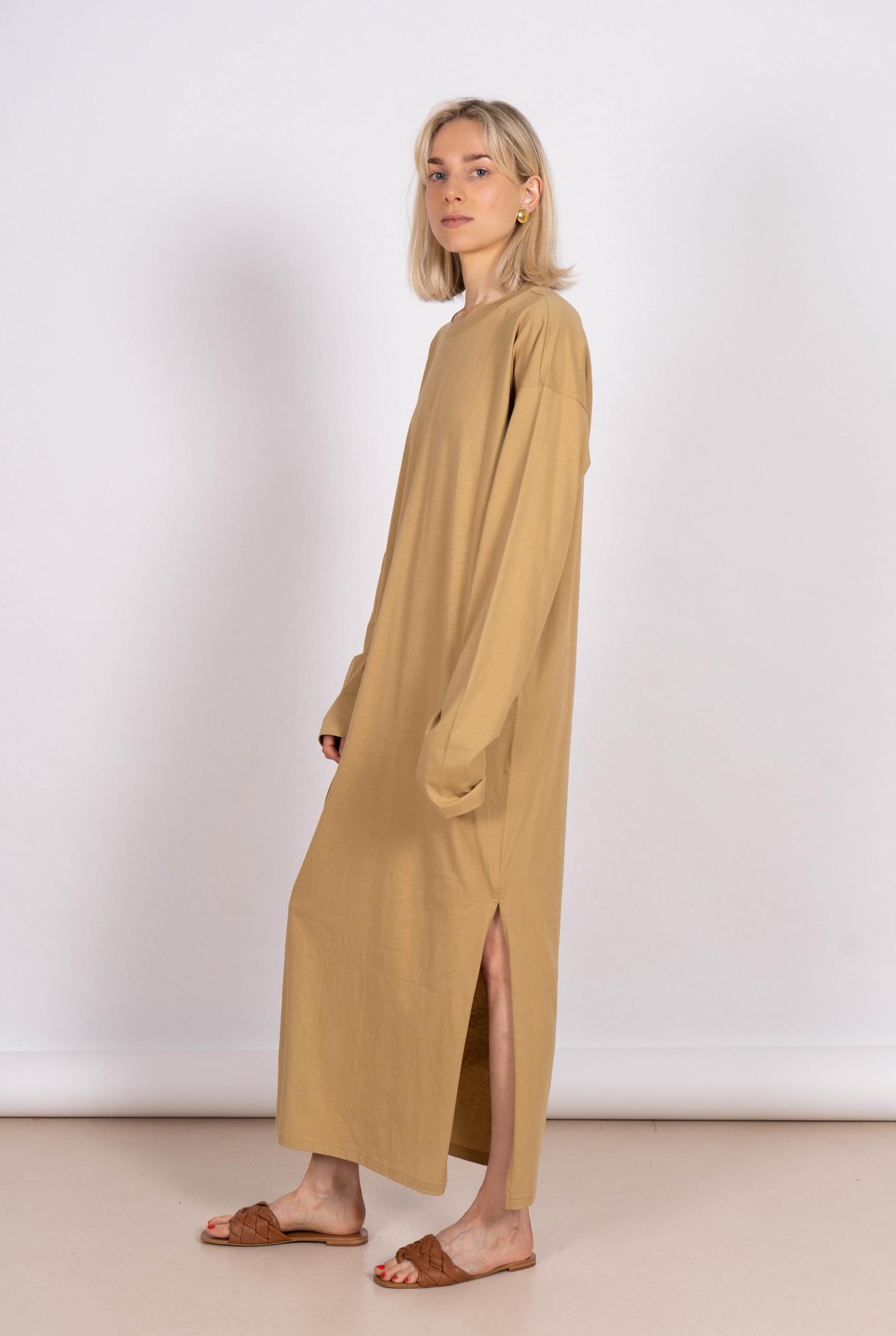 LOL Split Dress Beige Jersey