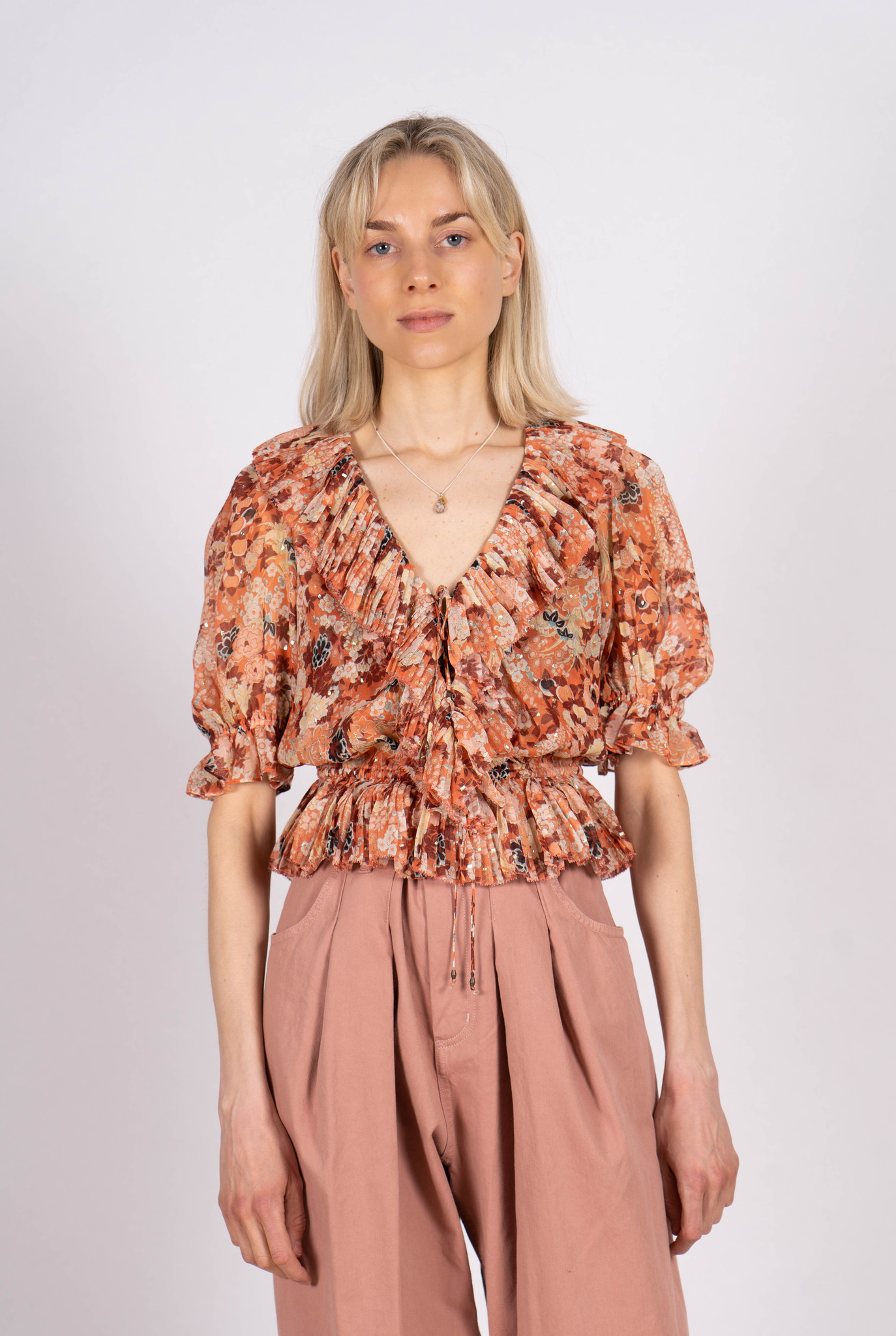 Ruby blouse coral