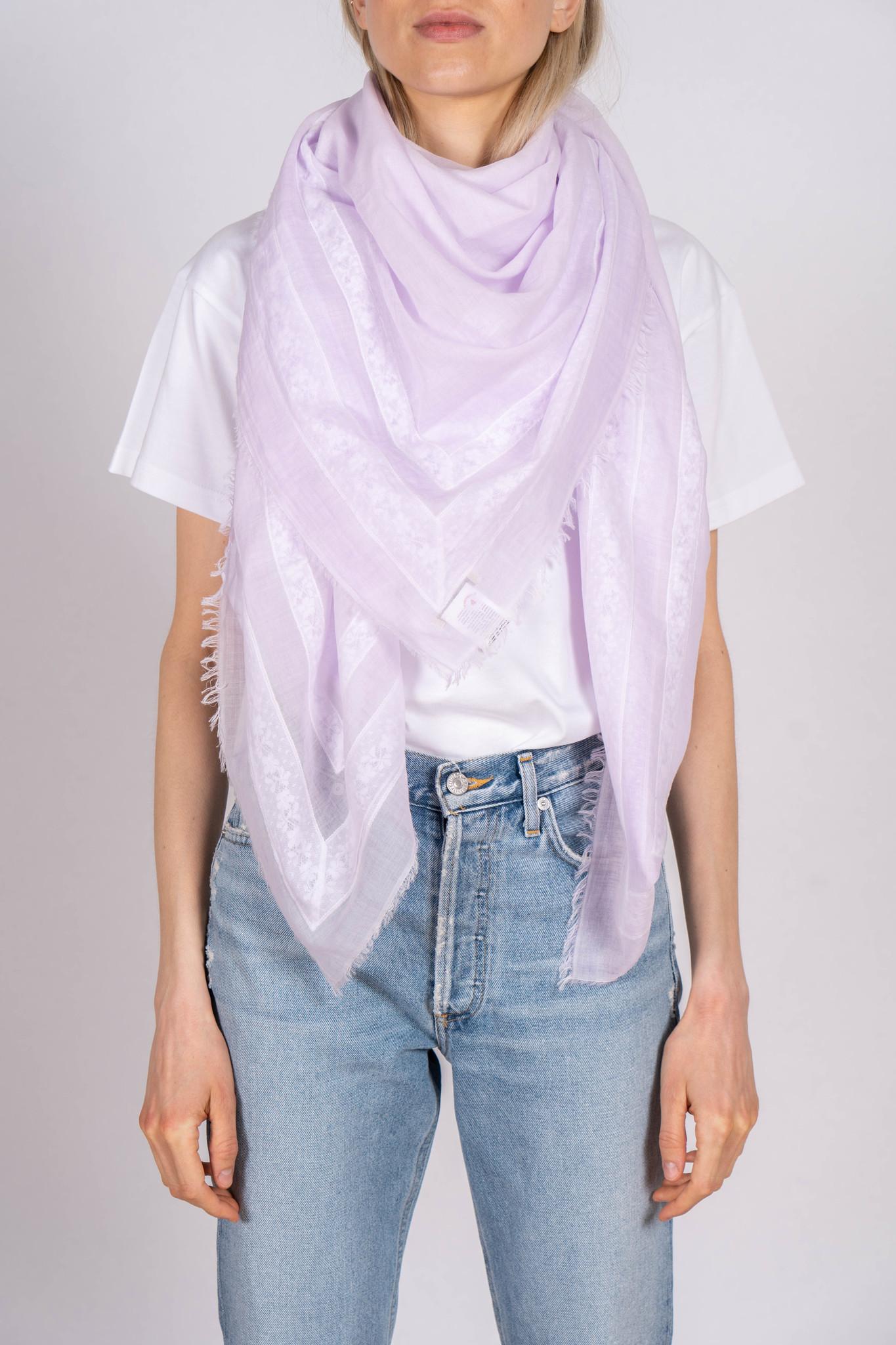 Fiammetta scarf lilac lace