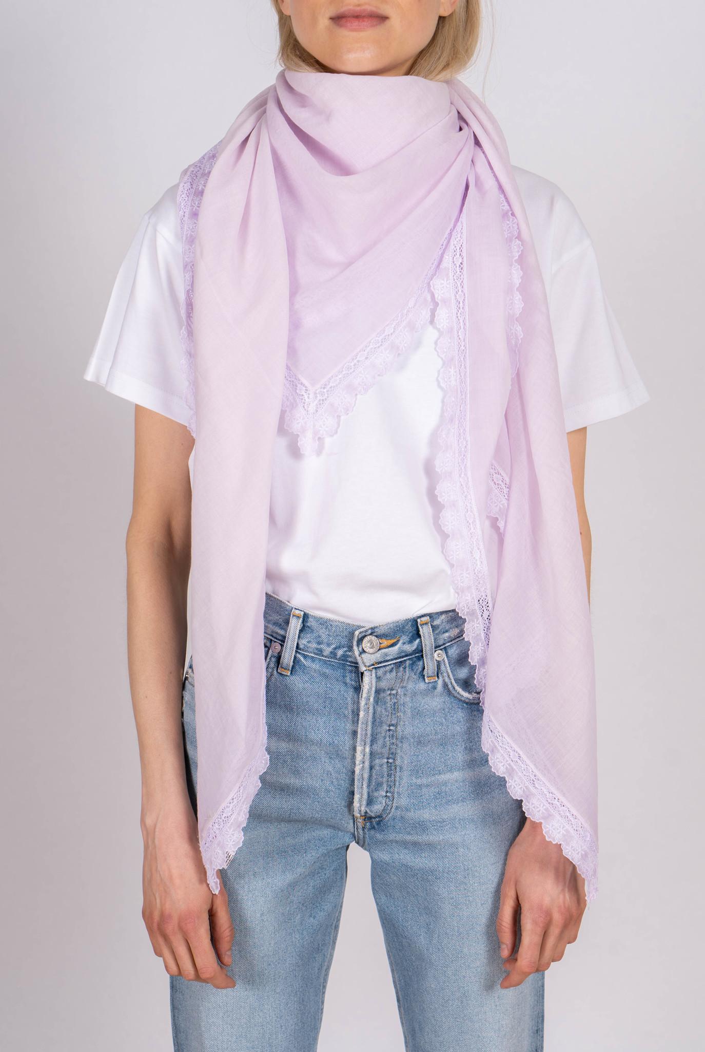 Karina scarf lilac embroidery