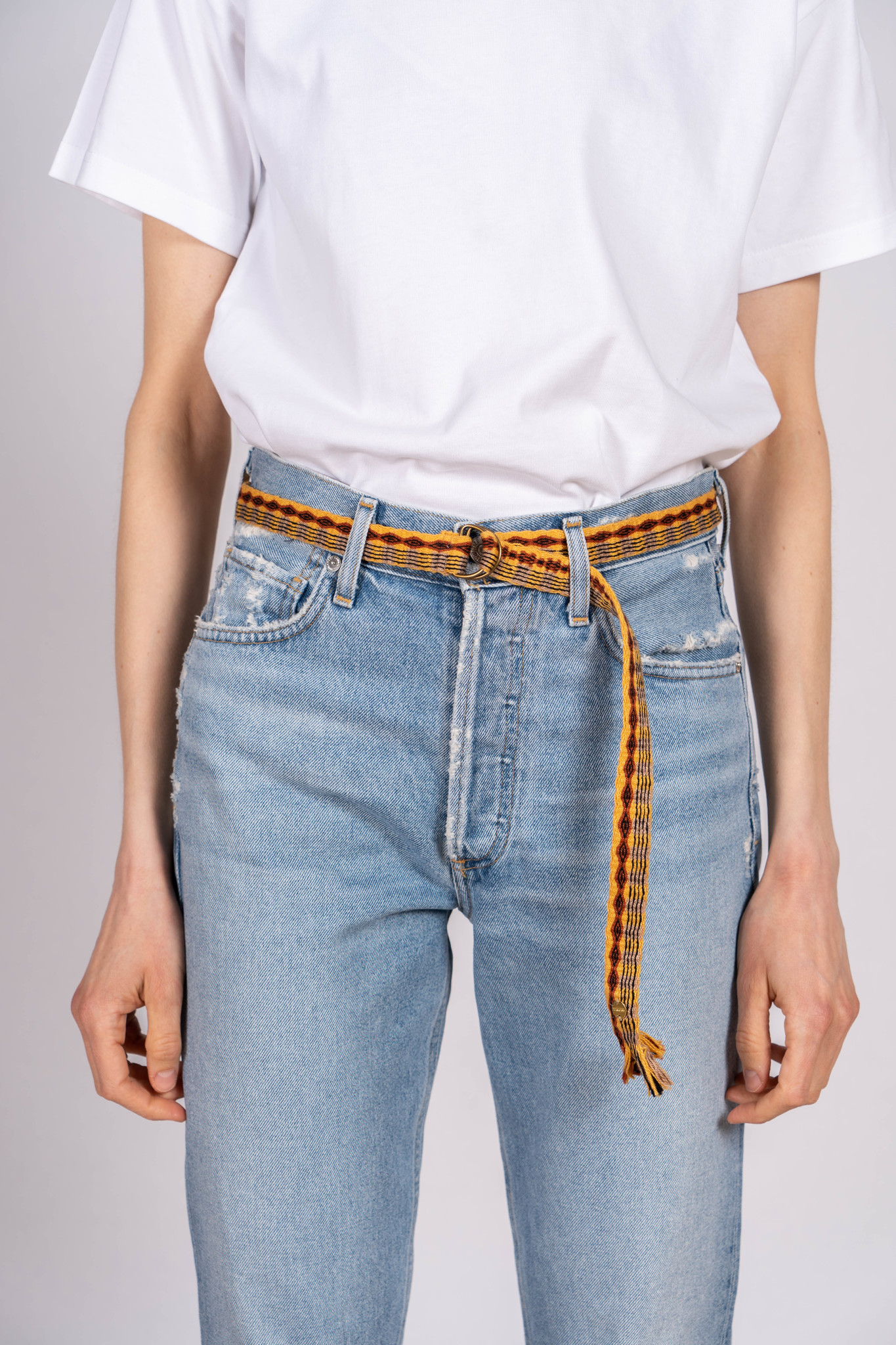 Thin Cotton Belt Yellow