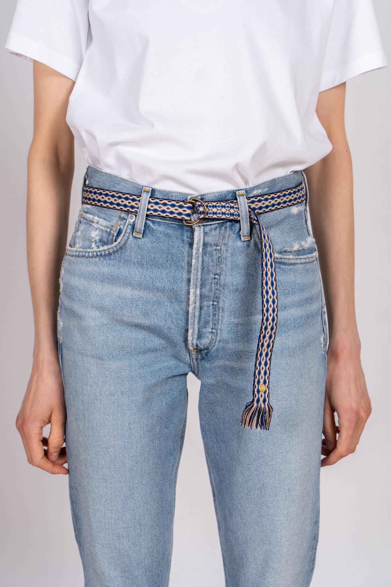 Thin Cotton Belt Kobalt Blue