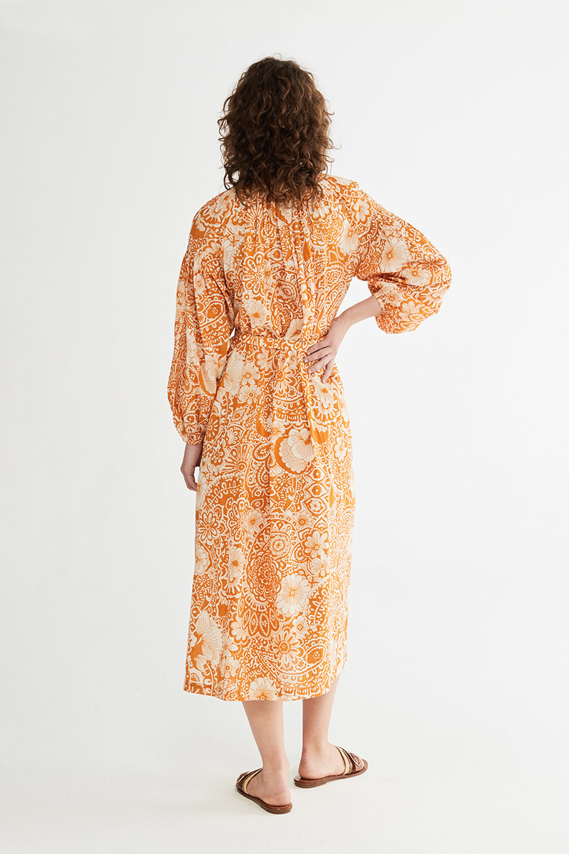 Nazaria Dress Orange