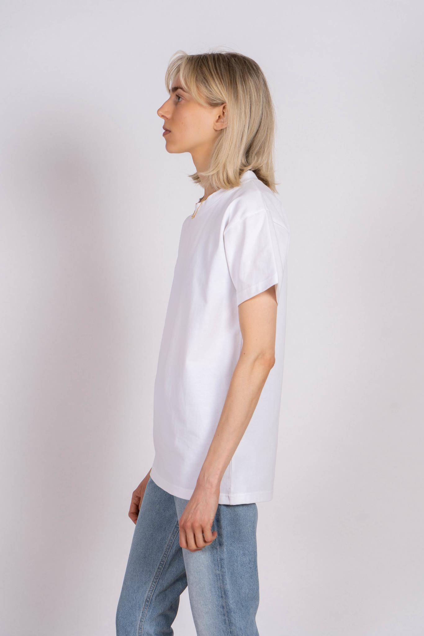 Boy T-shirt White Jersey